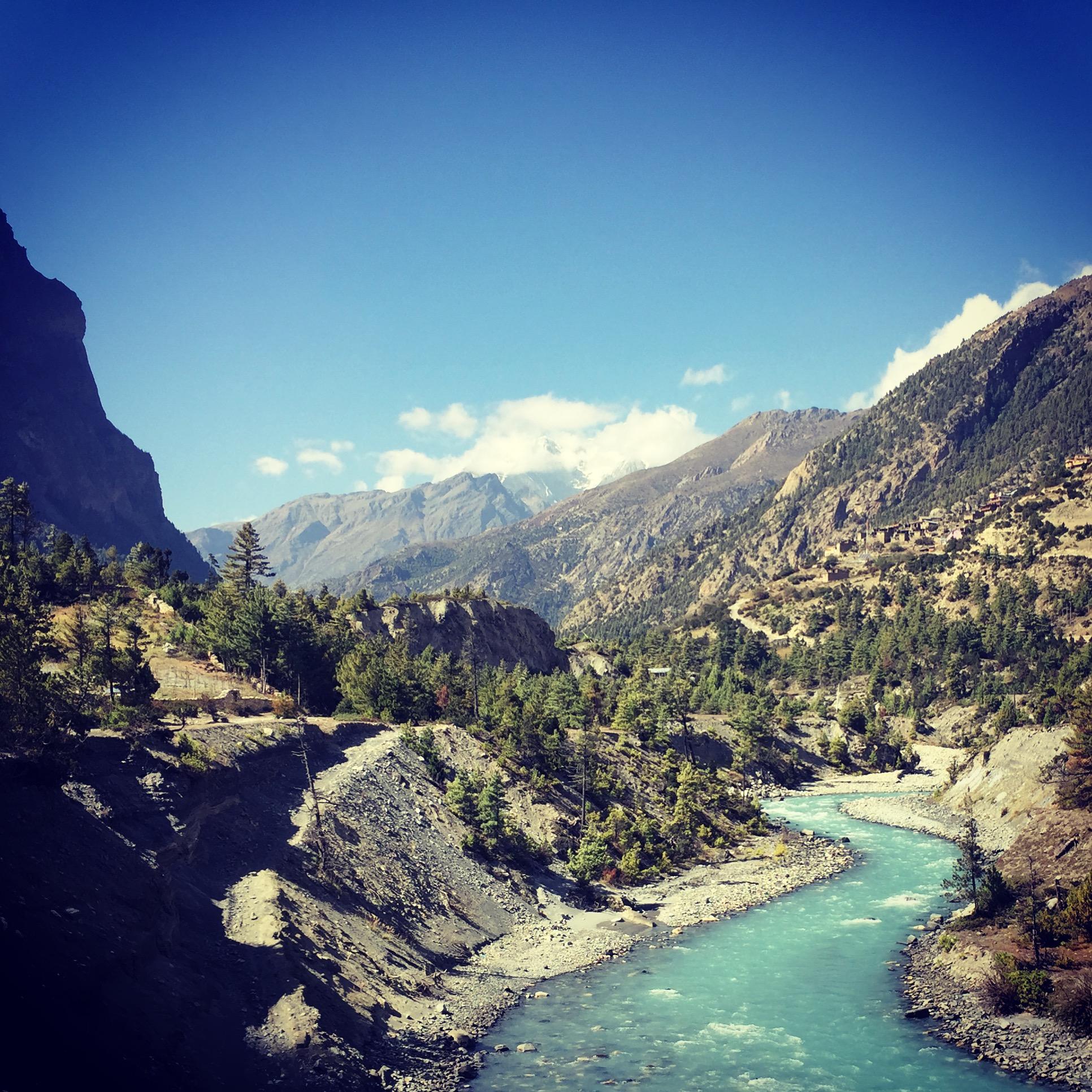Nepal Annapurna Circuit Pisang Fluss