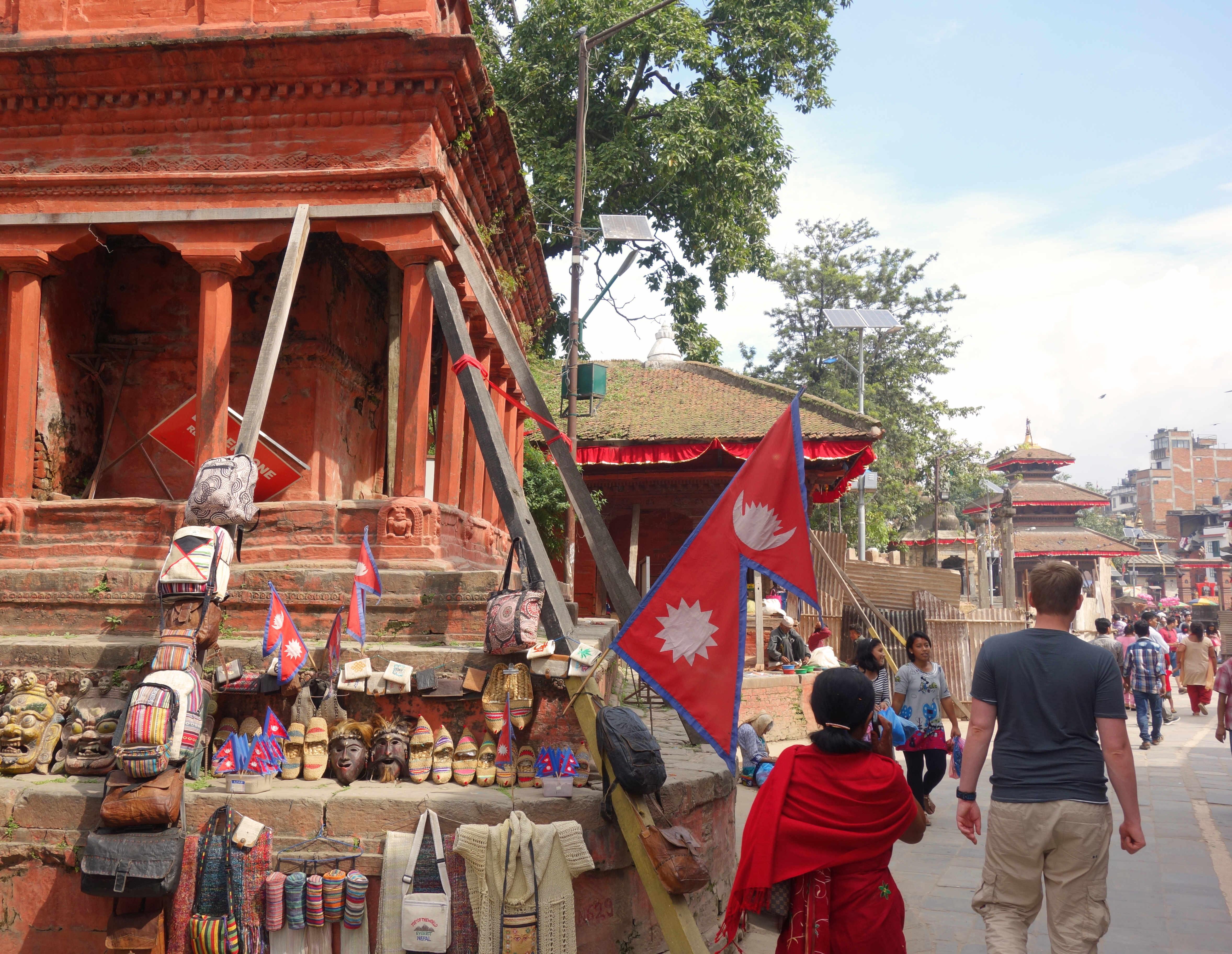 Nepal Kathmandu Durbar Square Tempel mit Stützen