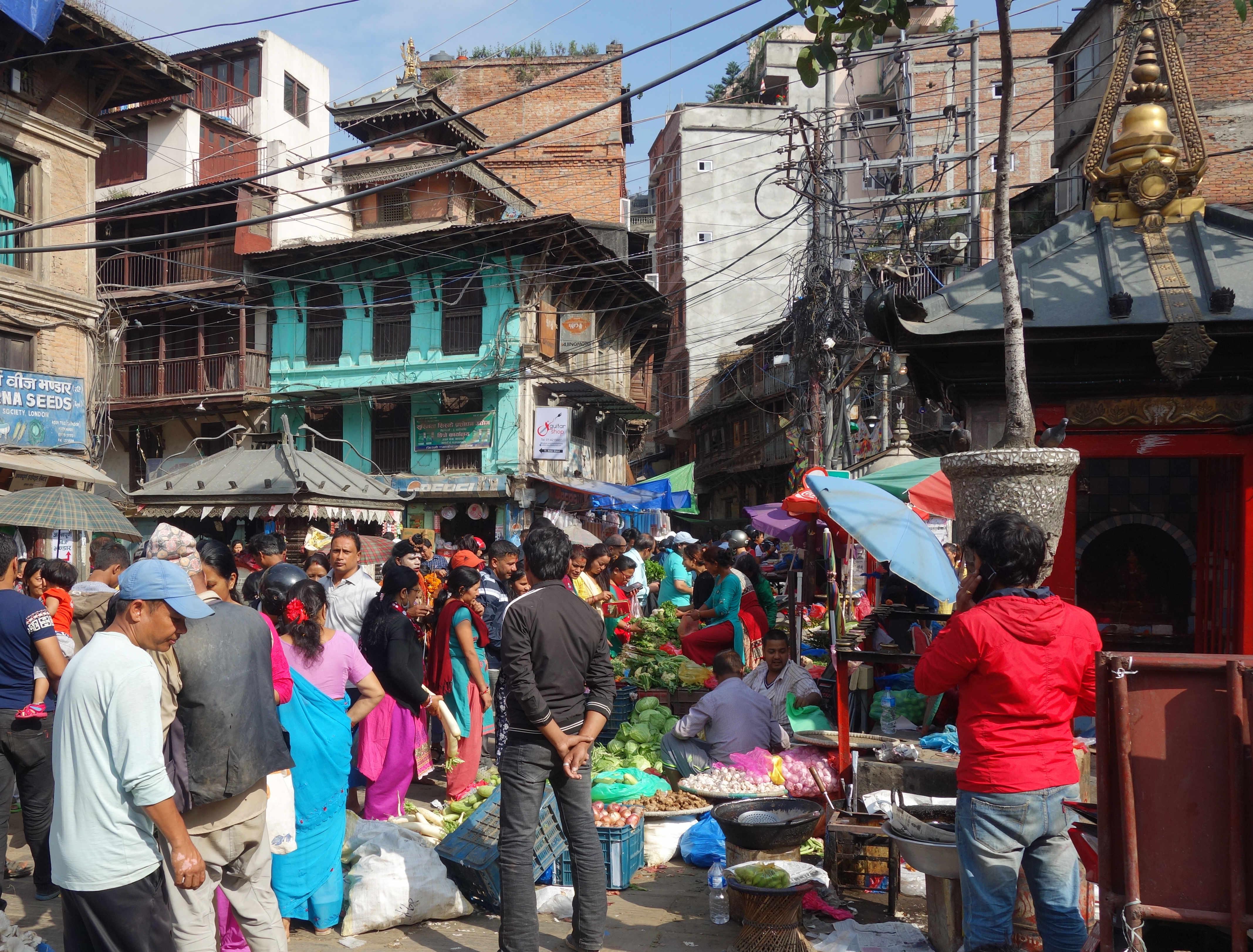 Nepal Kathmandu Gewusel