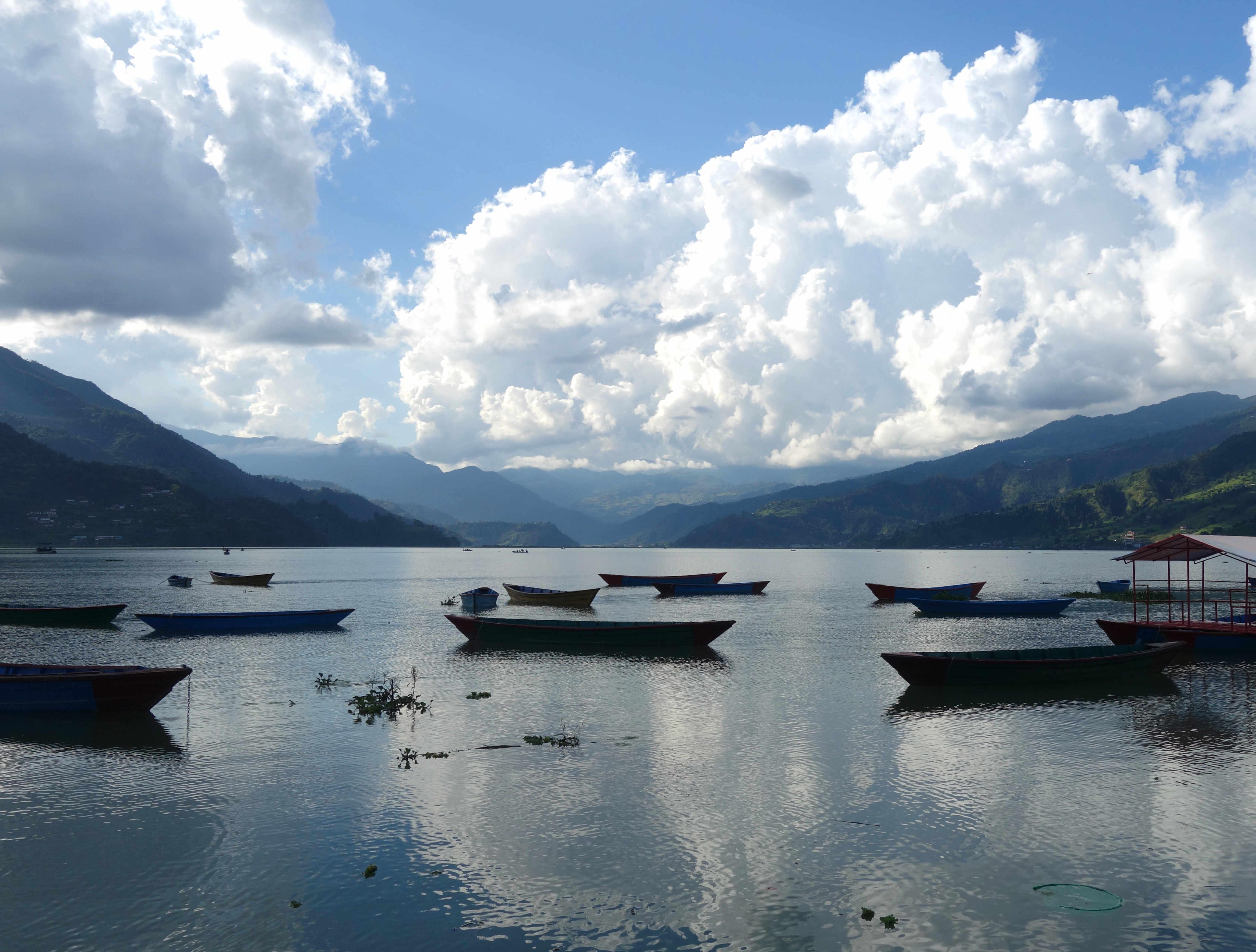 Nepal Pokhara Fewa Lake Boote