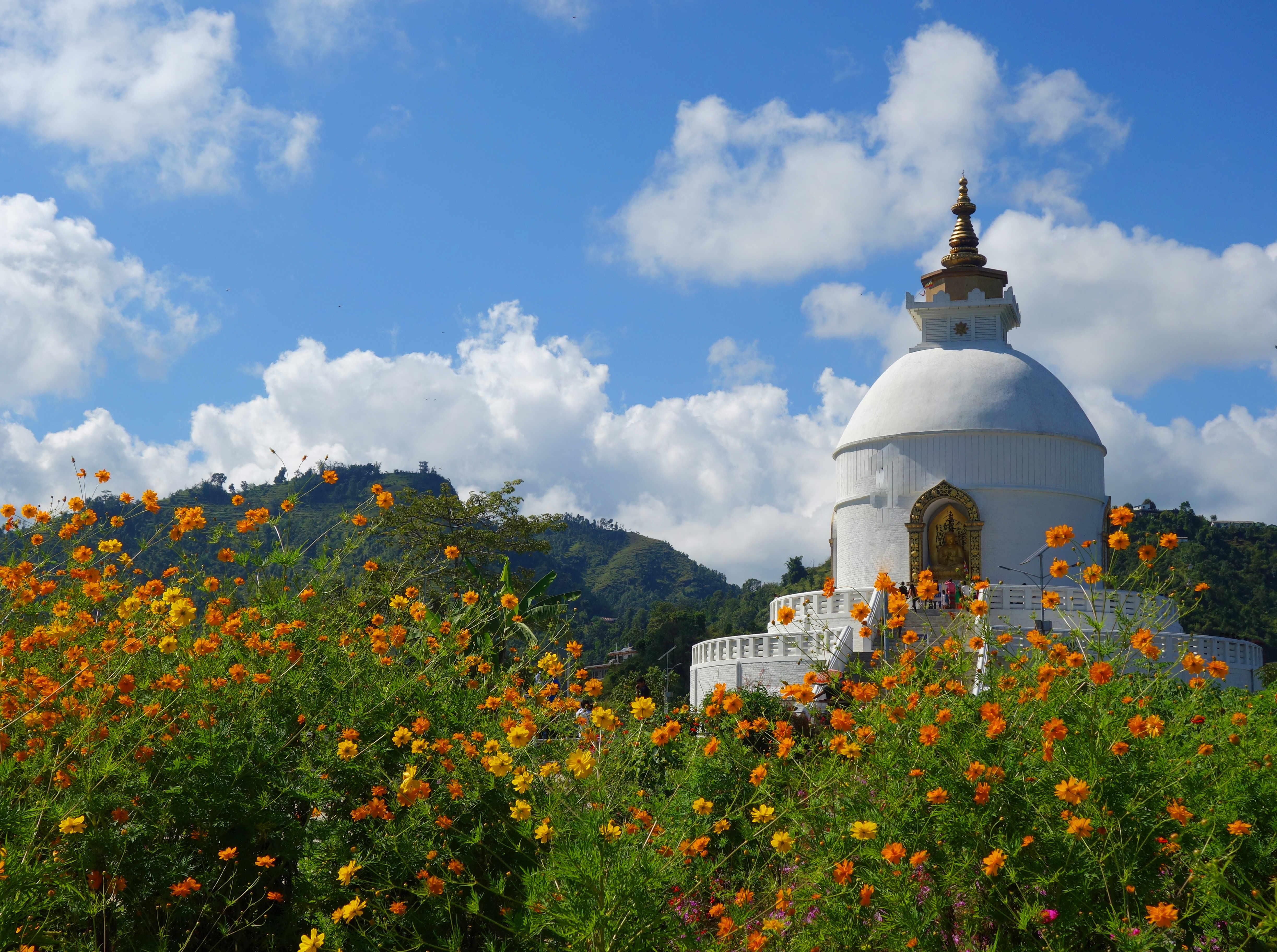 Nepal Pokhara World Peace Stupa
