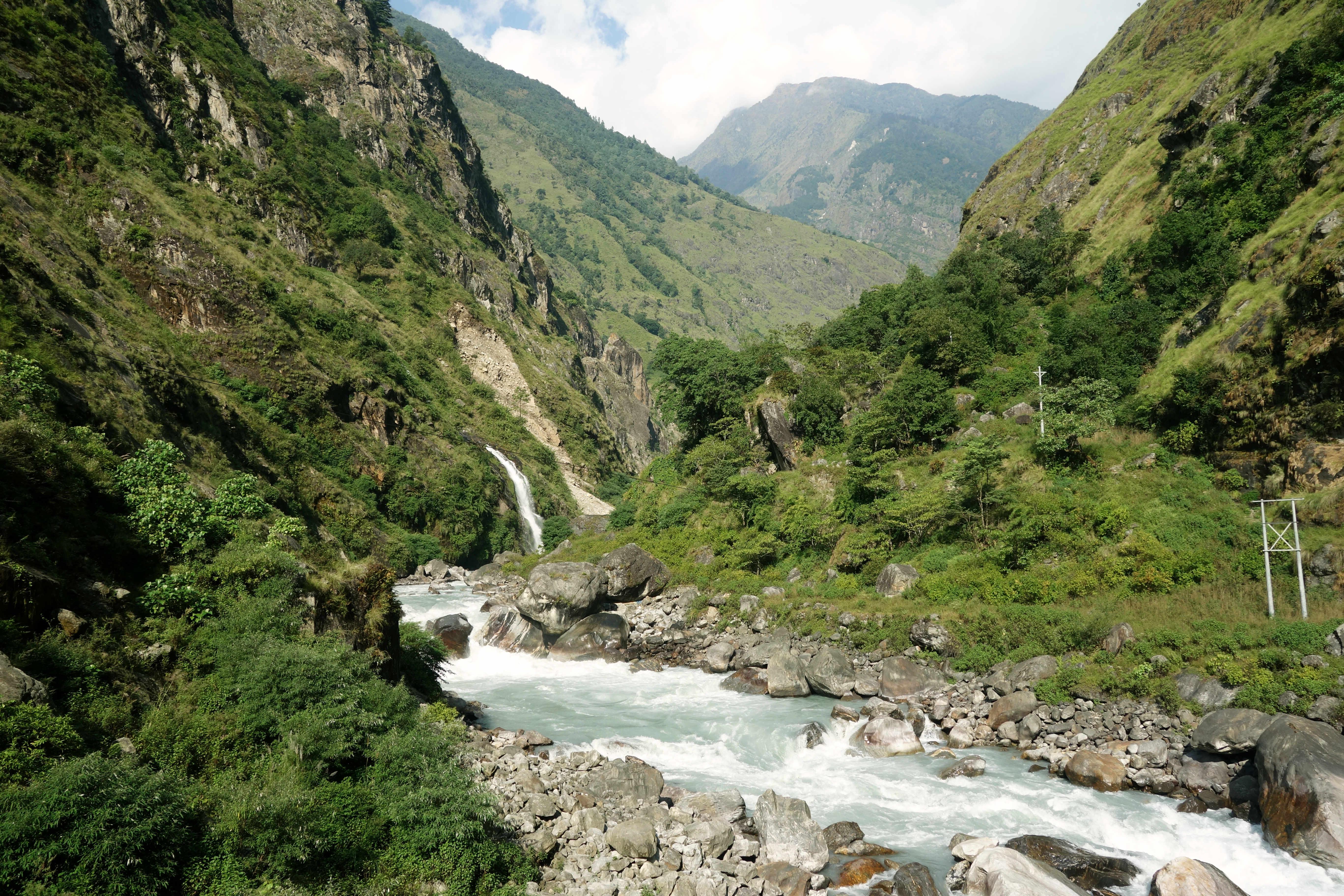 Nepal Annapurna Circuit Fluss
