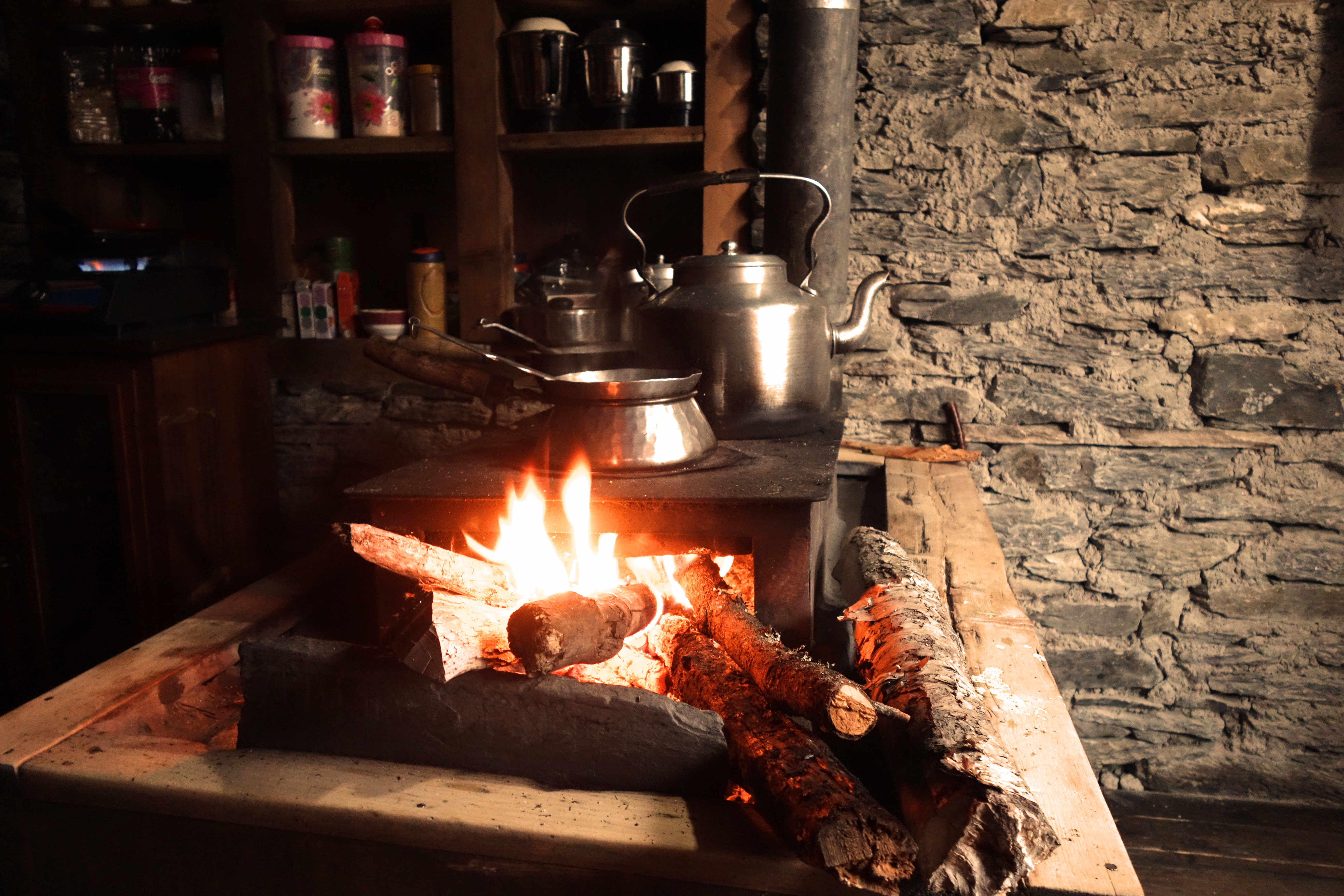 Nepal Annapurna Circuit Feuerstelle