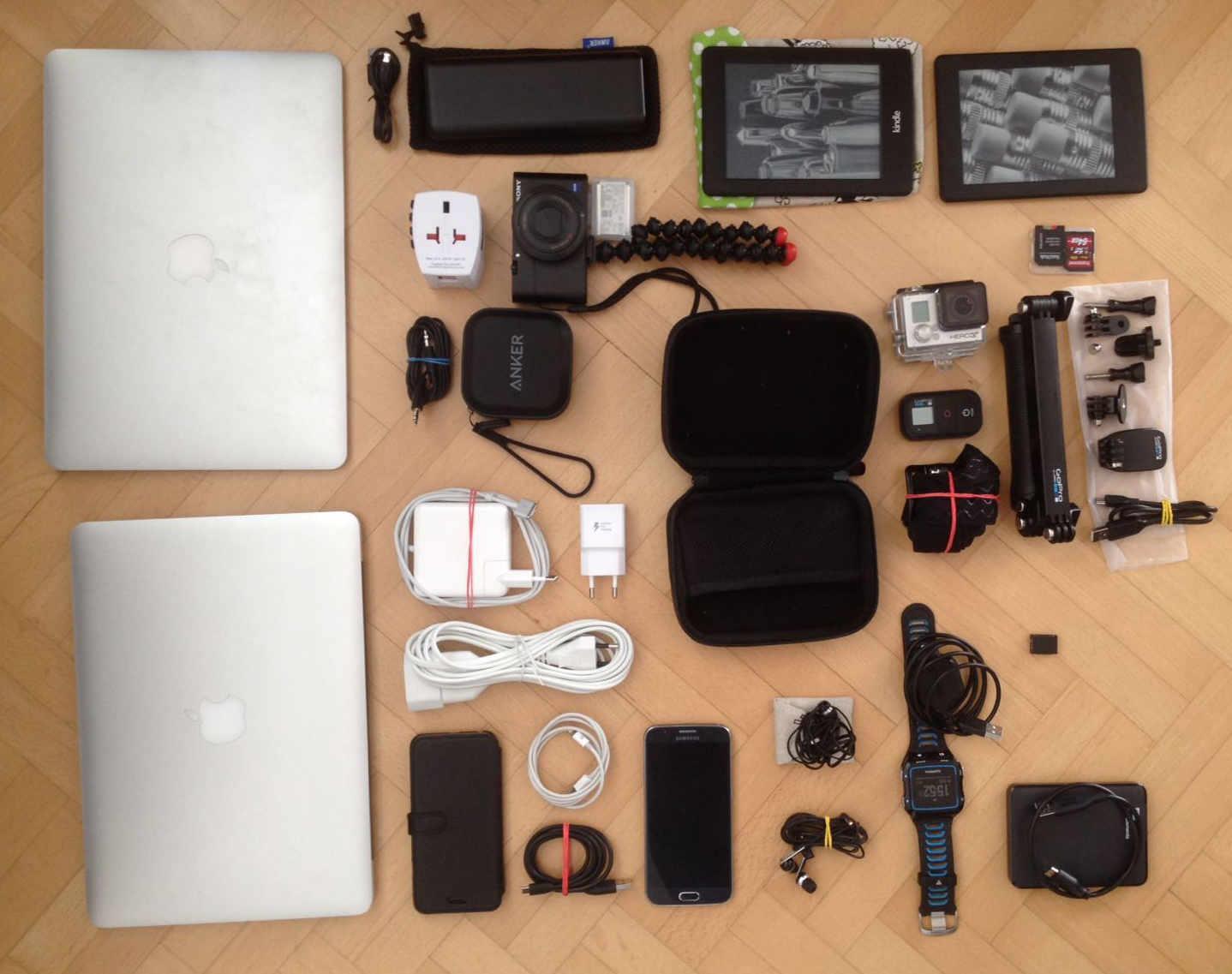 Weltreise Packliste Handgepäck Elektronik