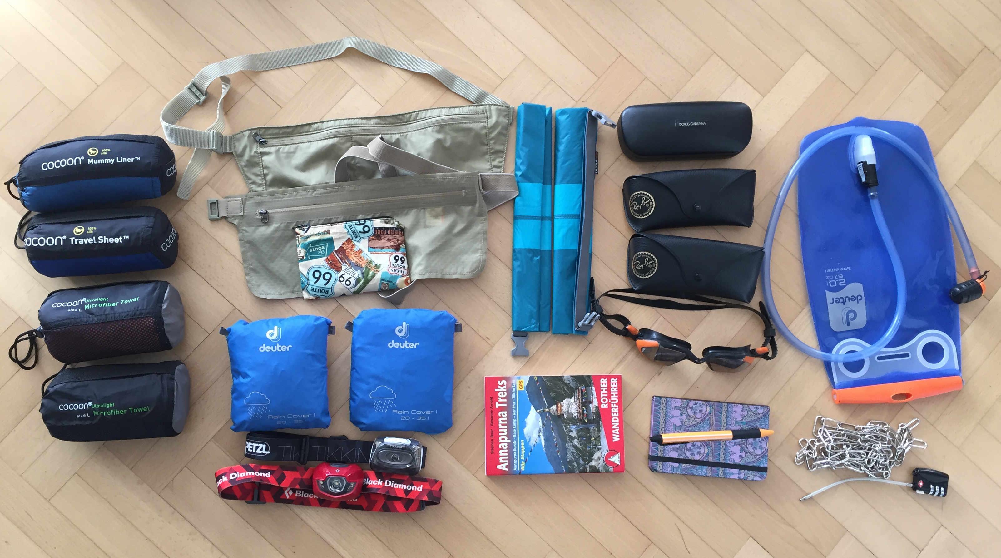 Weltreise Packliste Handgepäck Sonstiges