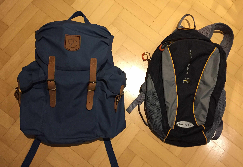 Weltreise Packliste Handgepäck Tagesrucksäcke