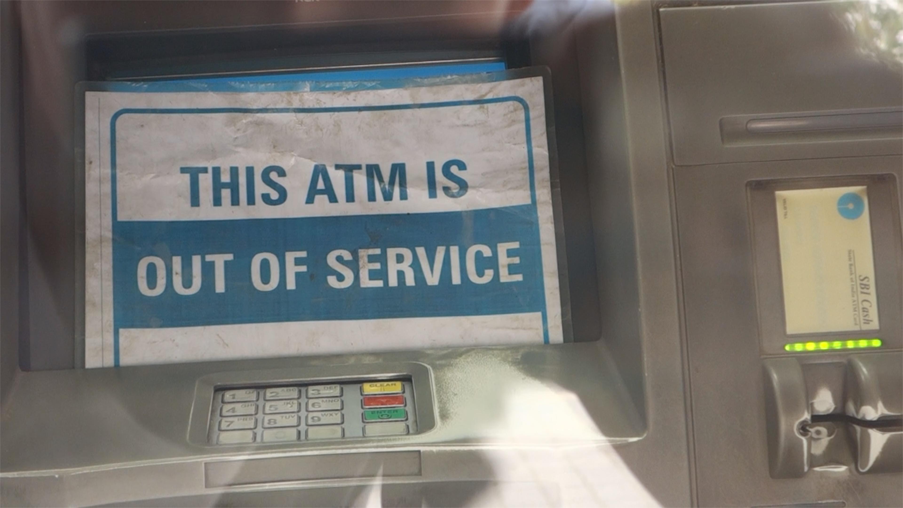 Indien Finanzkrise ATM
