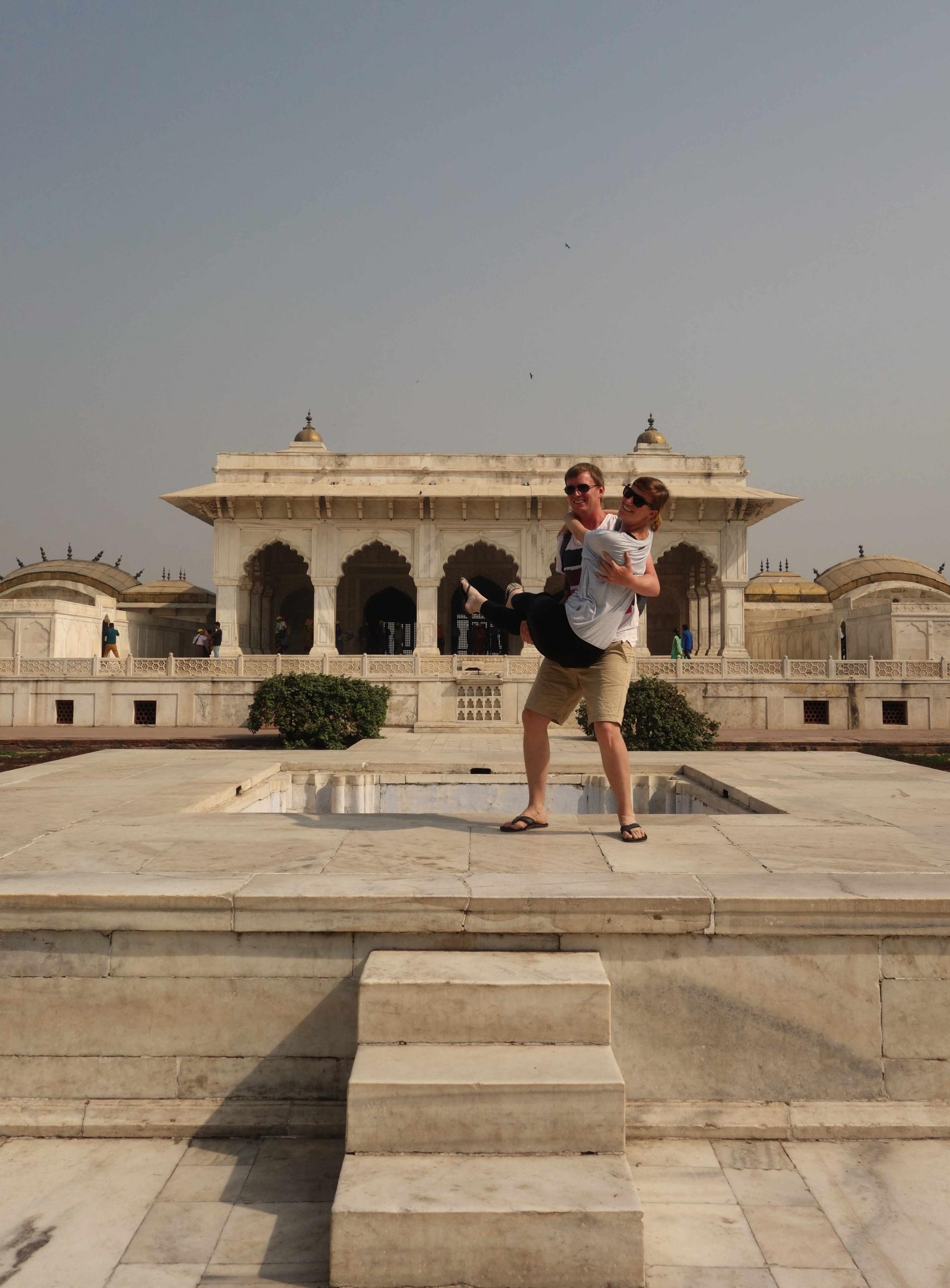 Agra Fort Paar