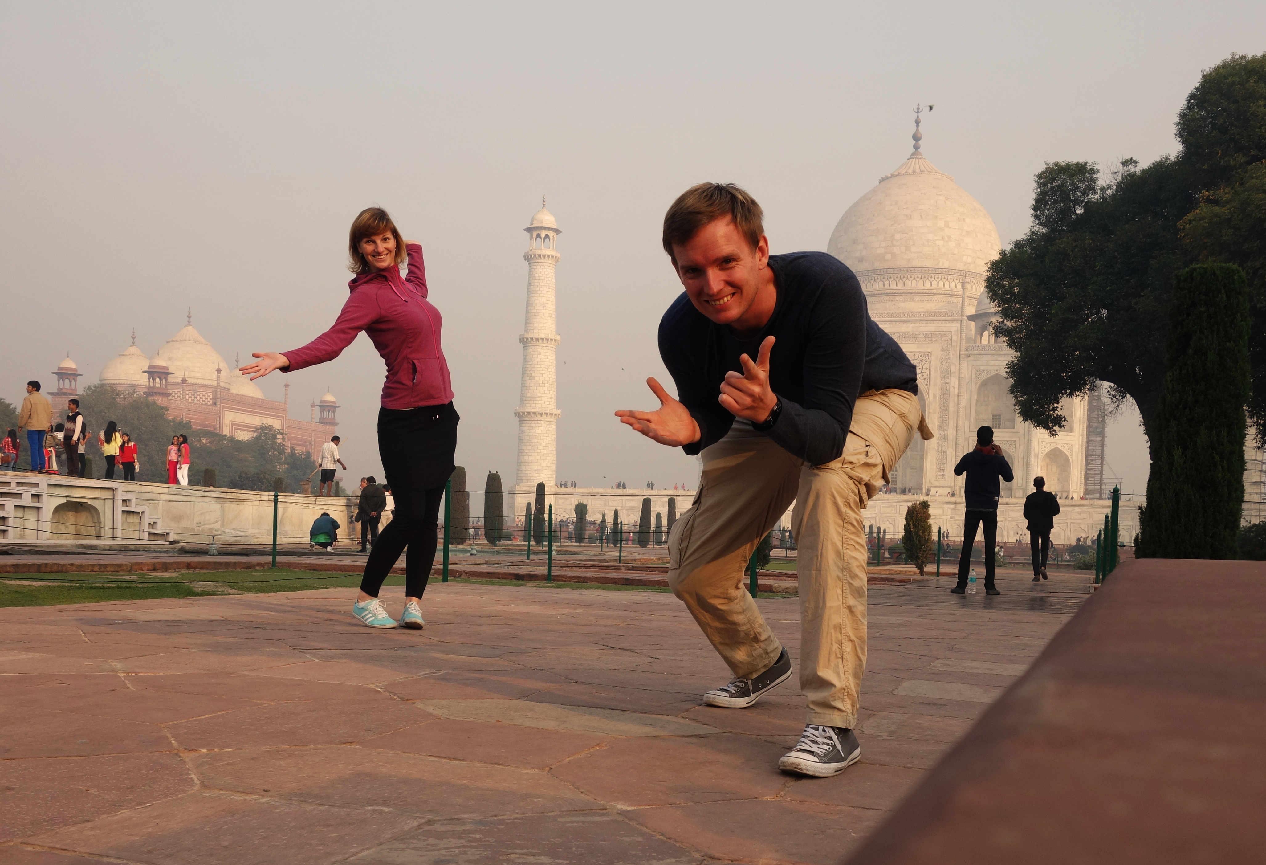 Indien Agra Taj Mahal Paar post