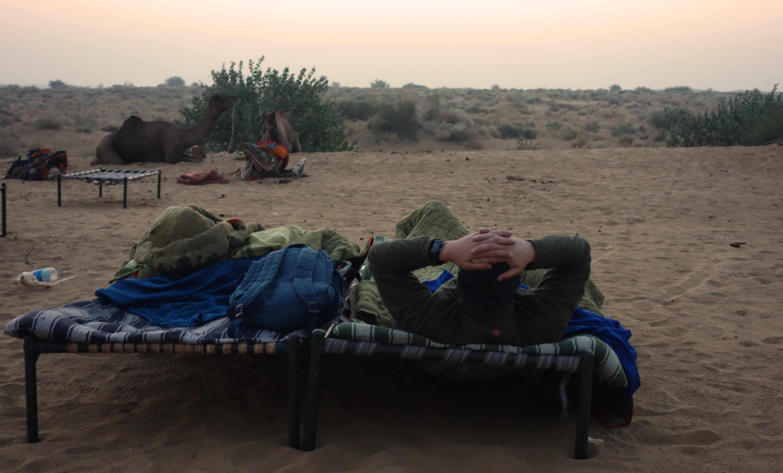 Indien Jaisalmer Kamelsafari Betten