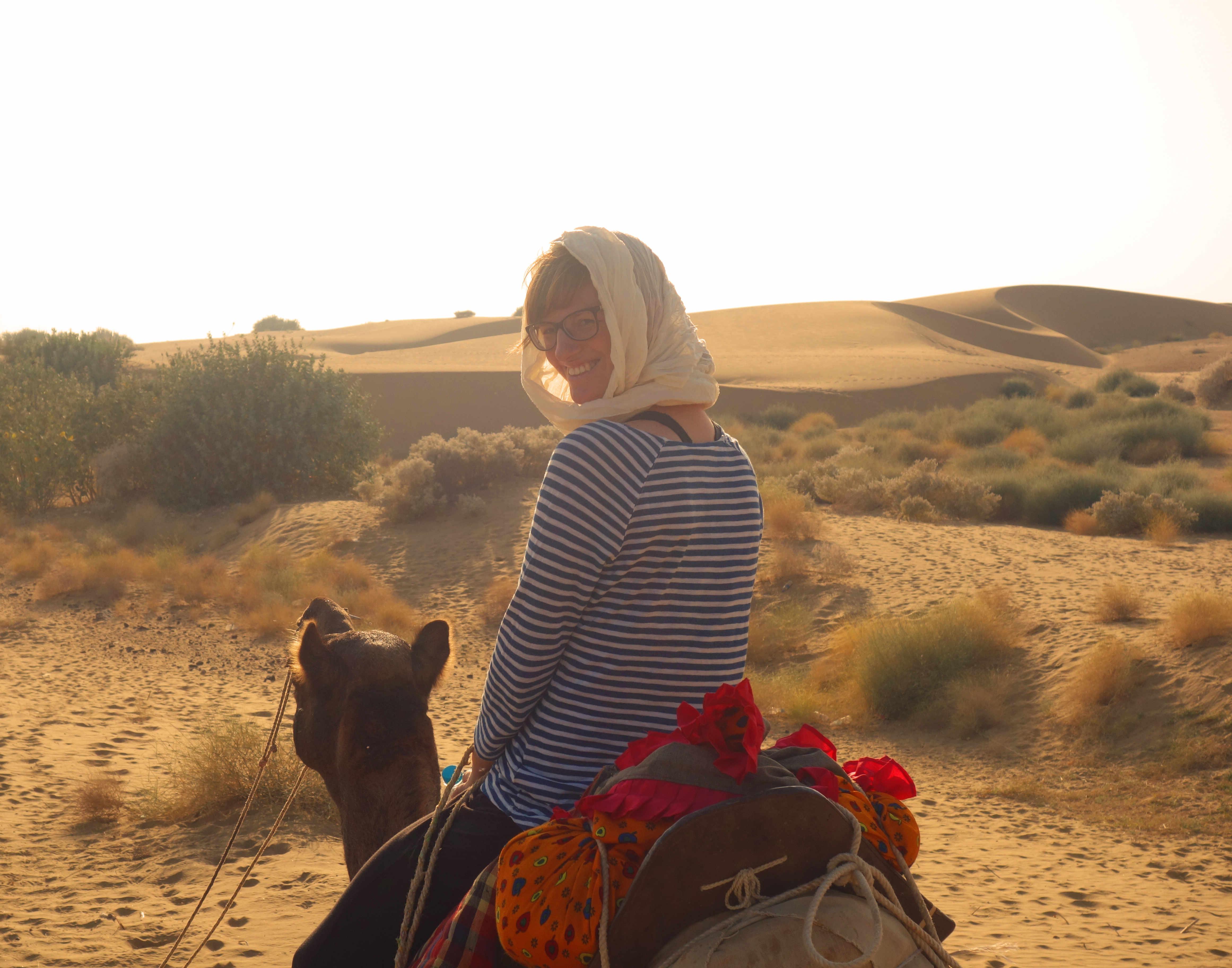 Indien Jaisalmer Kamelsafari Franzi