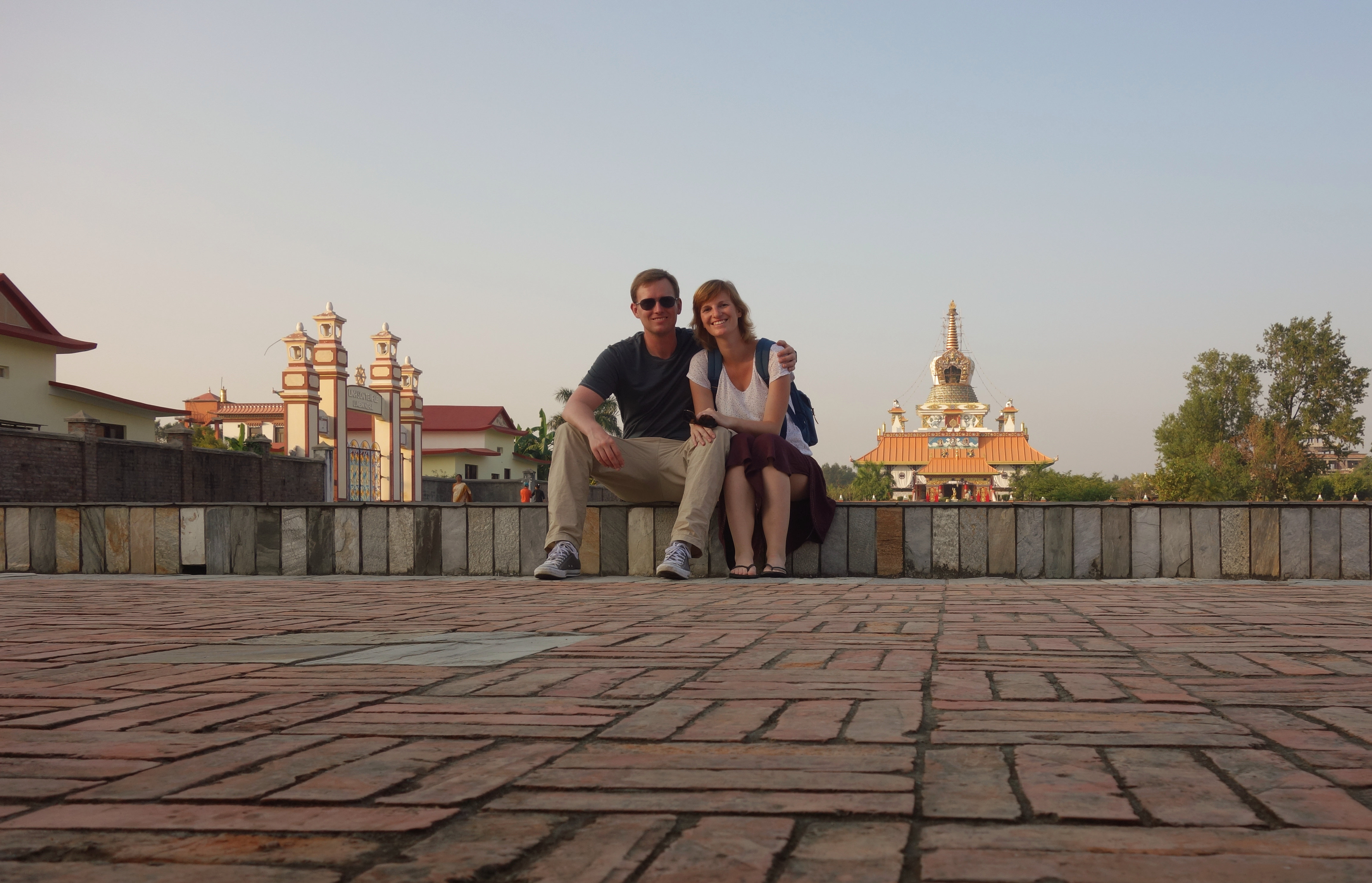 Nepal Lumbini Paar