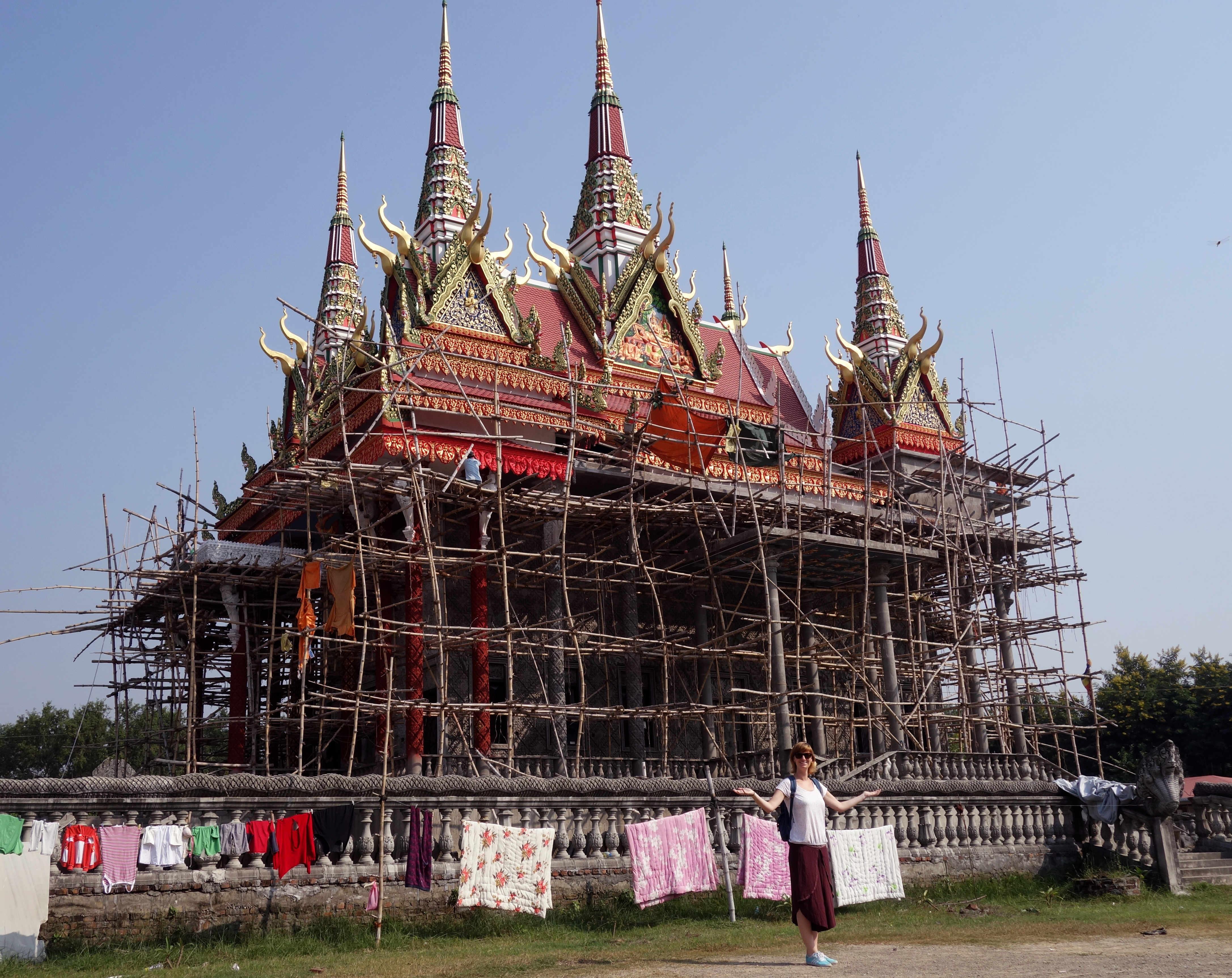 Nepal Lumbini Tempel Kambodscha Baugerüst