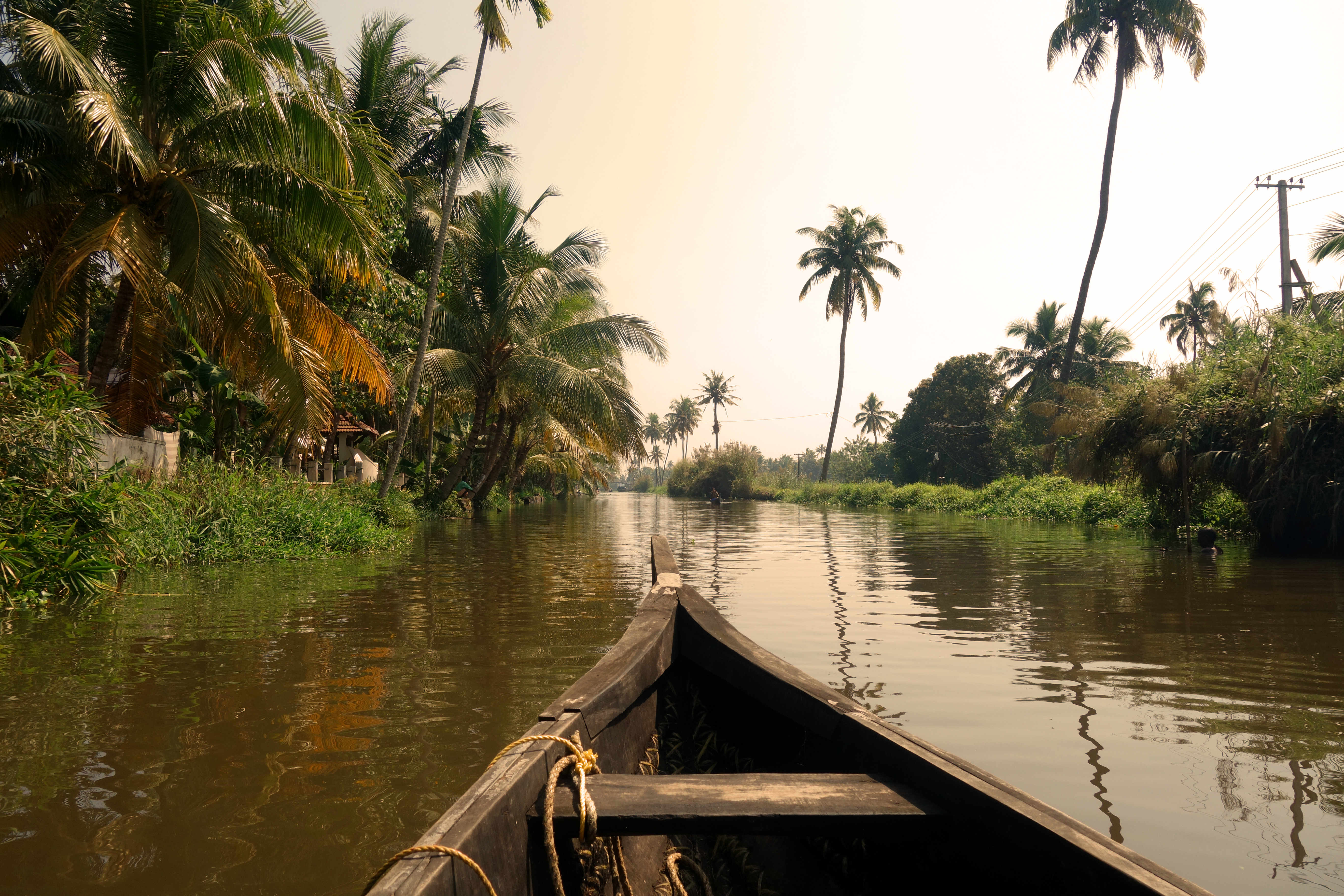 Indien Kerala Backwaters Fluss