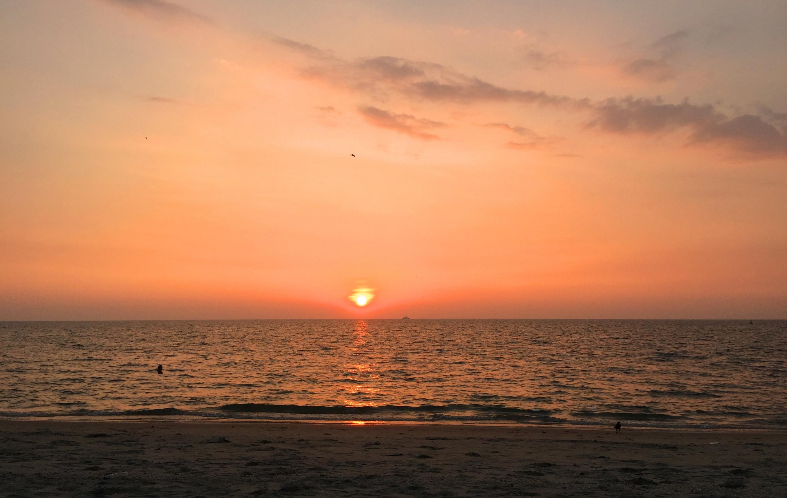 Aleppey Sonnenuntergang