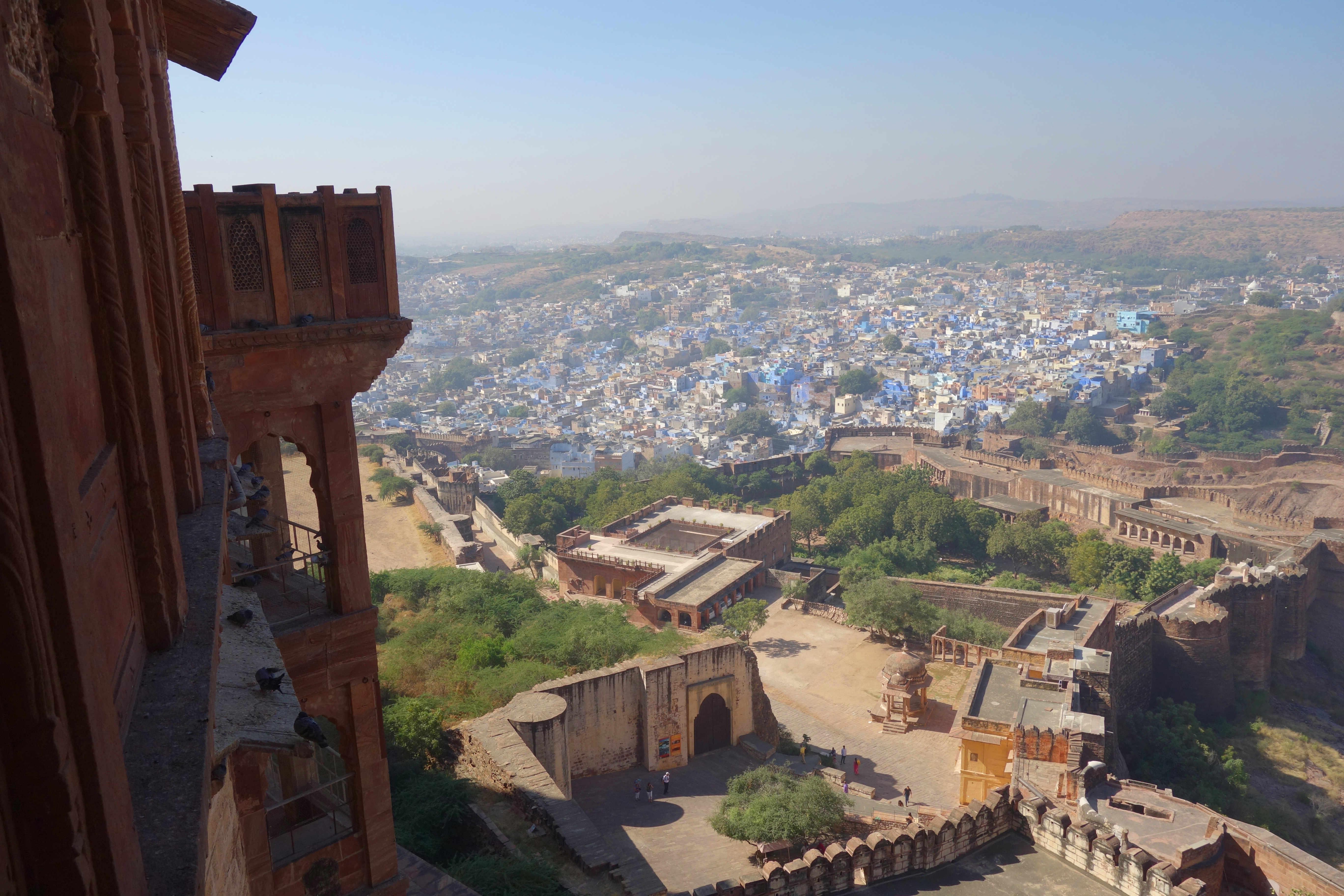 Indien Jodhpur Merangarh Fort Blick