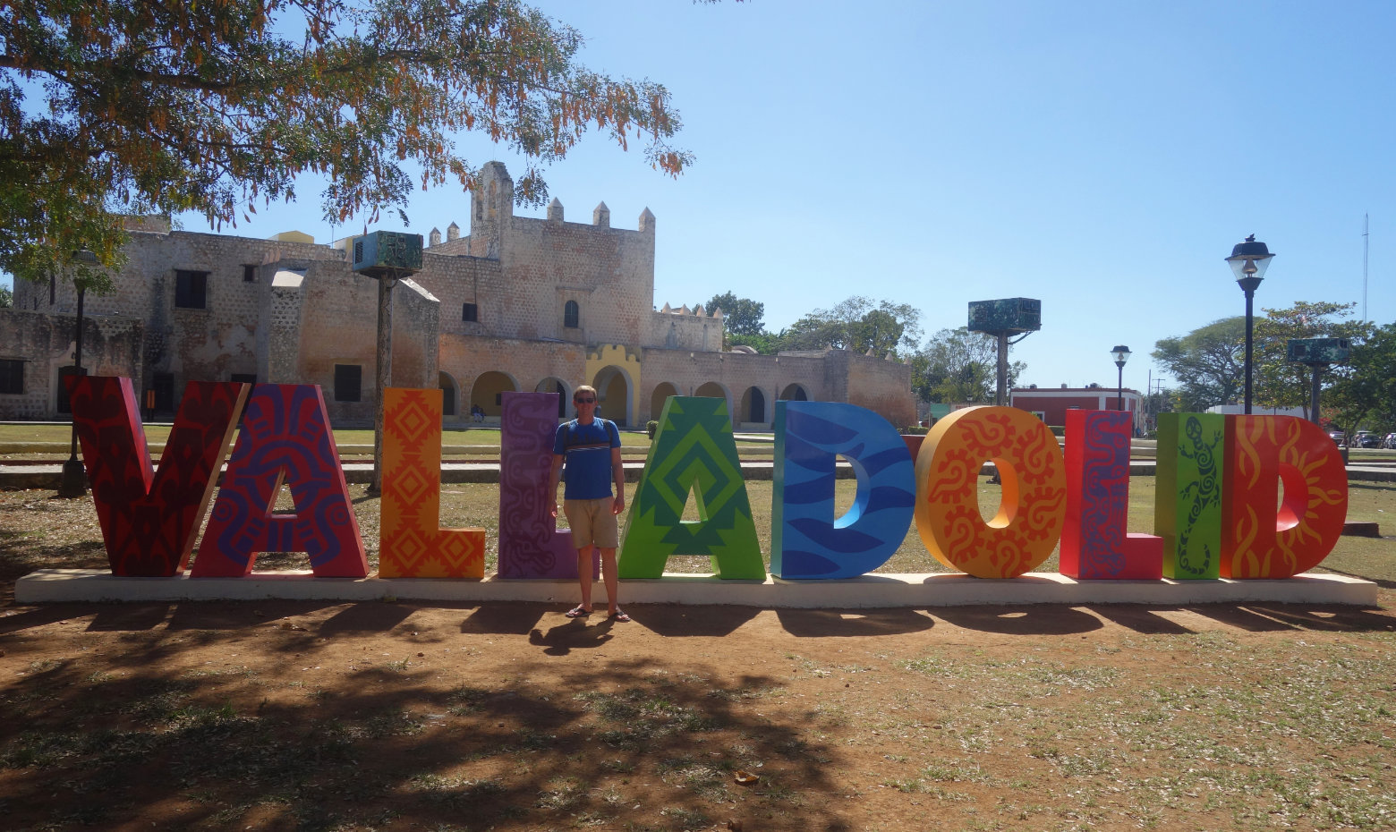 Mexiko Valladolid Schriftzug