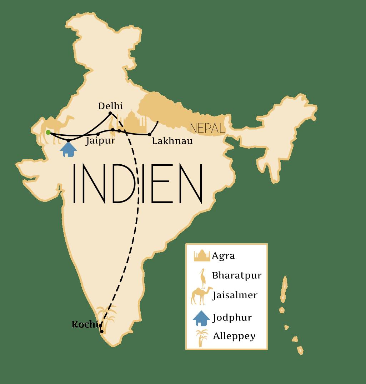 Indien Reisetipps Route