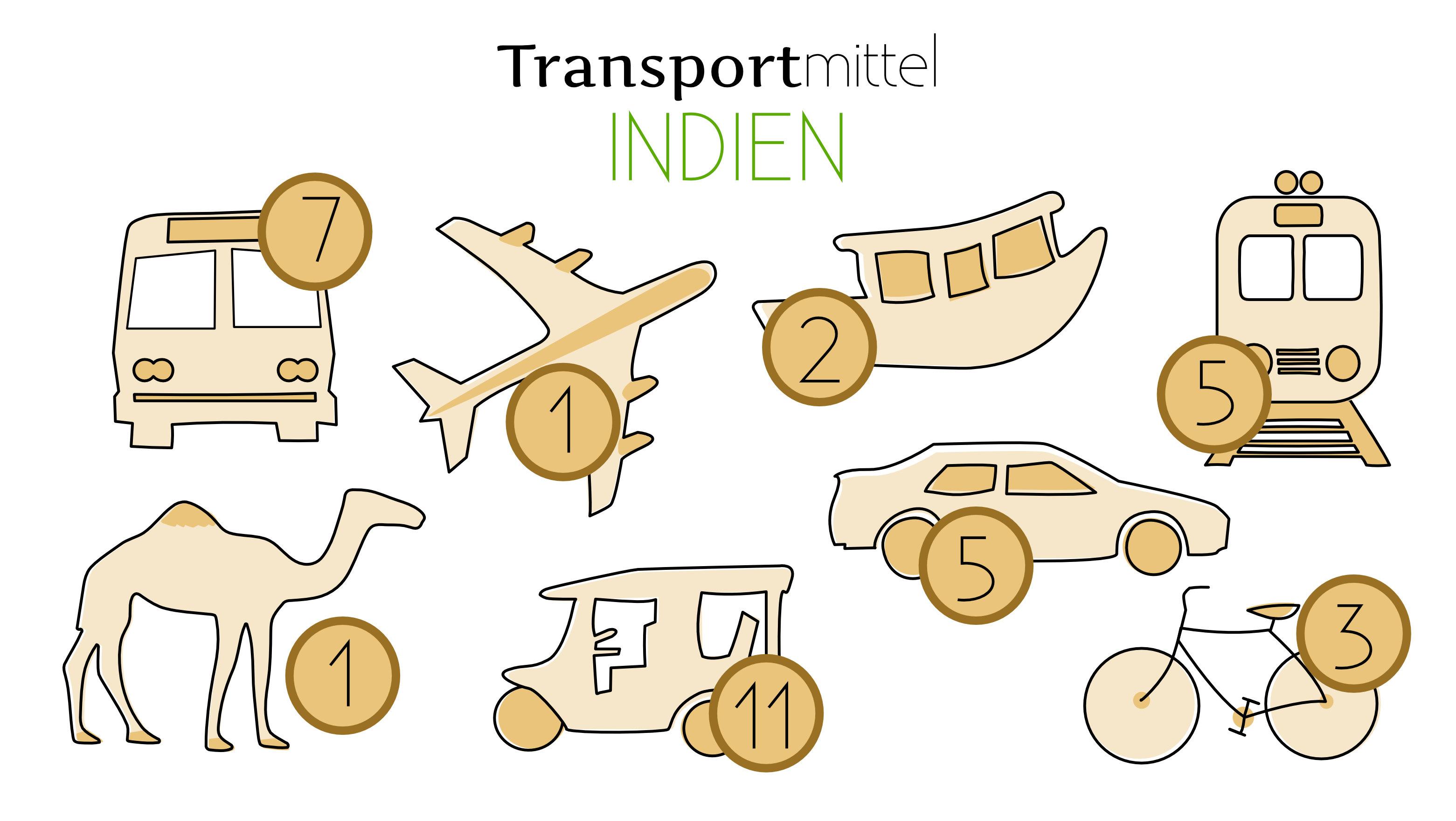Indien Reisetipps Transport Übersicht