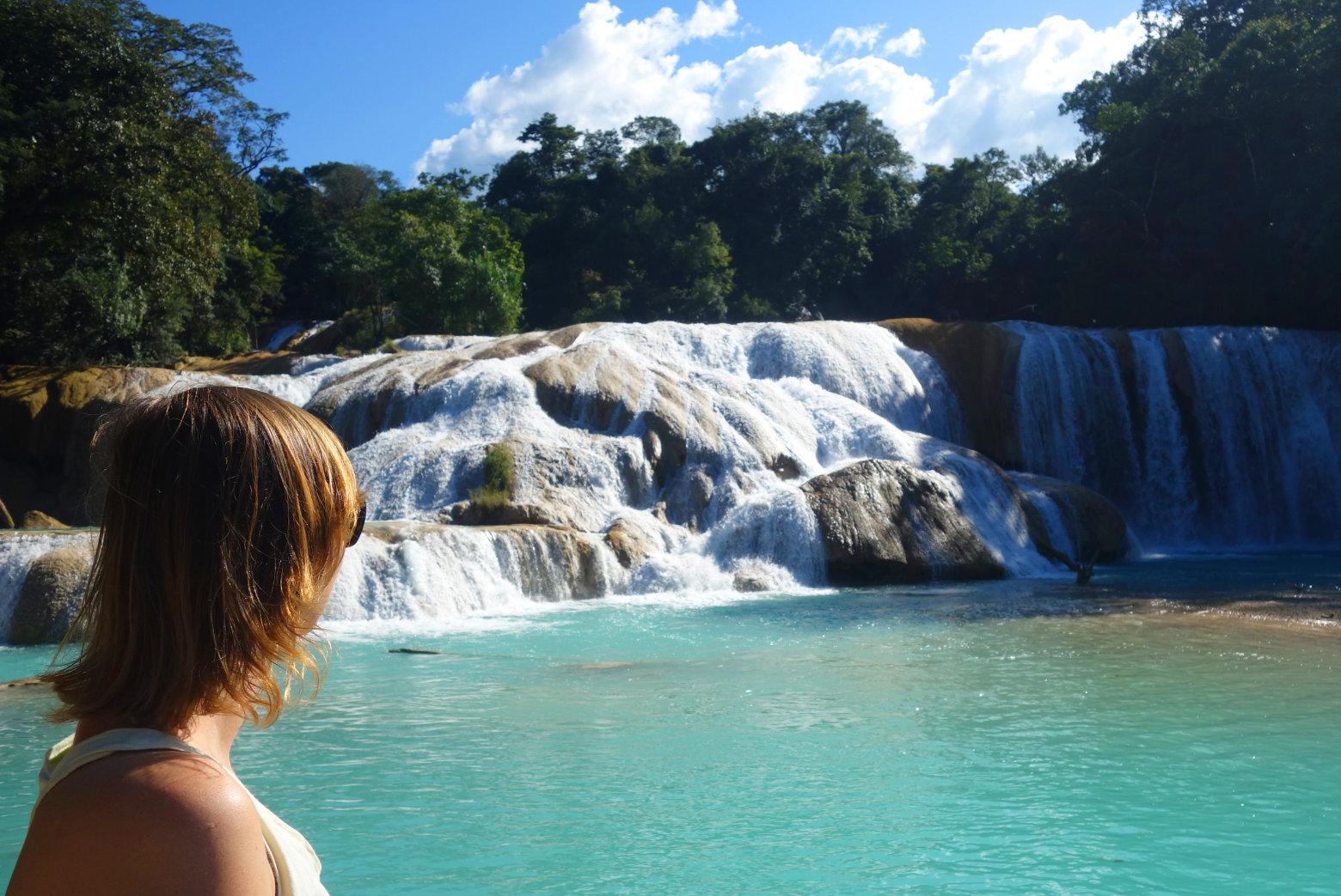 Mexiko Palenque Agua Azul Wasserfall