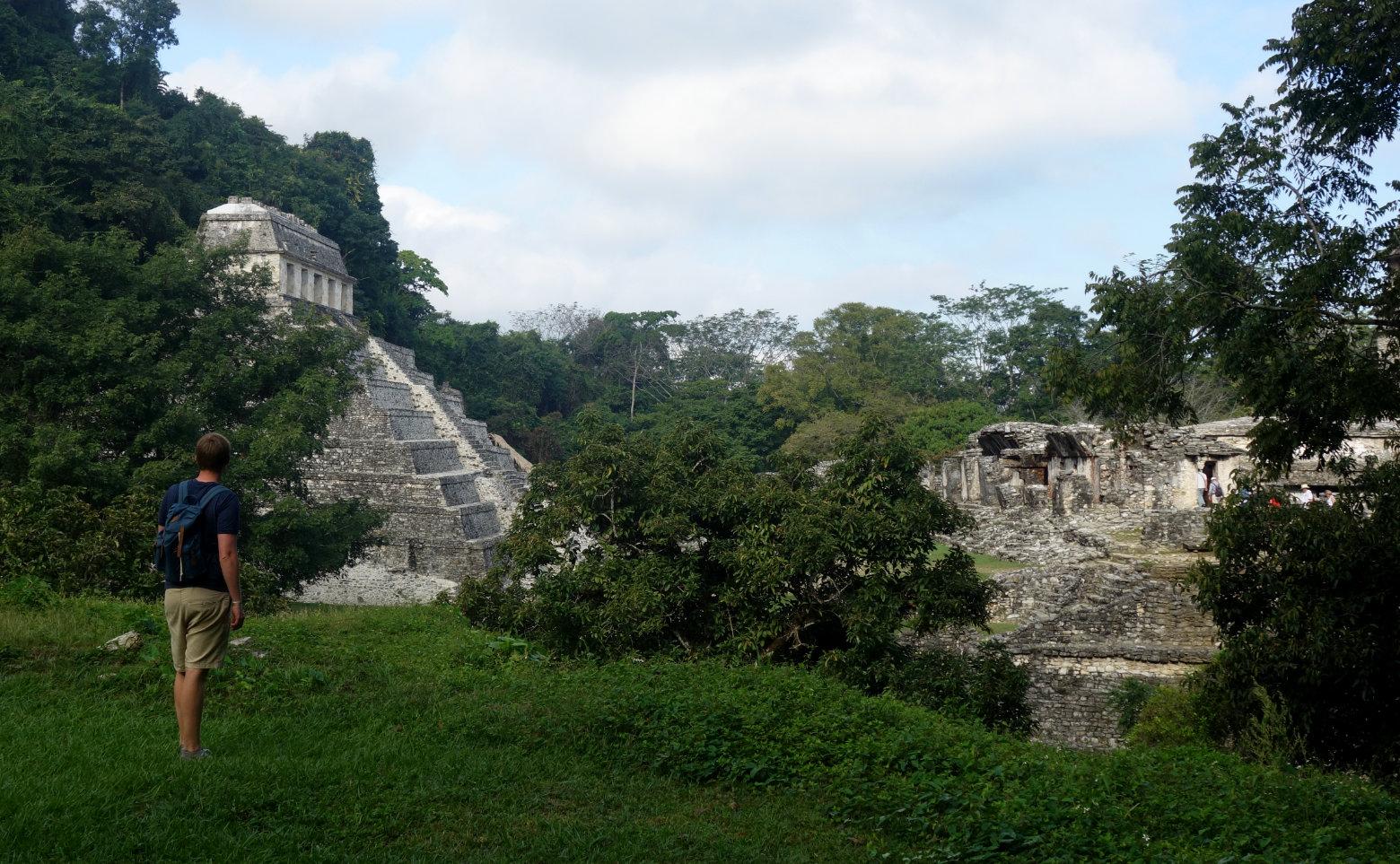 Mexiko Palenque Blick auf Ruinen