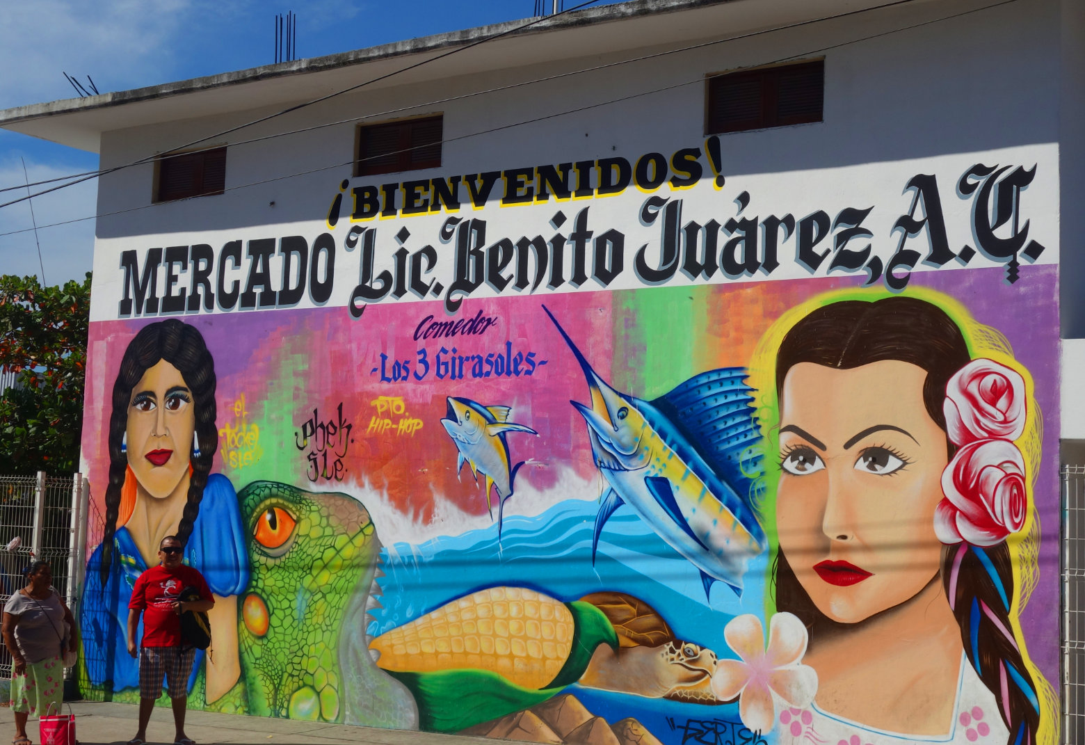 Mexiko Puerto Escondido Markt Bild