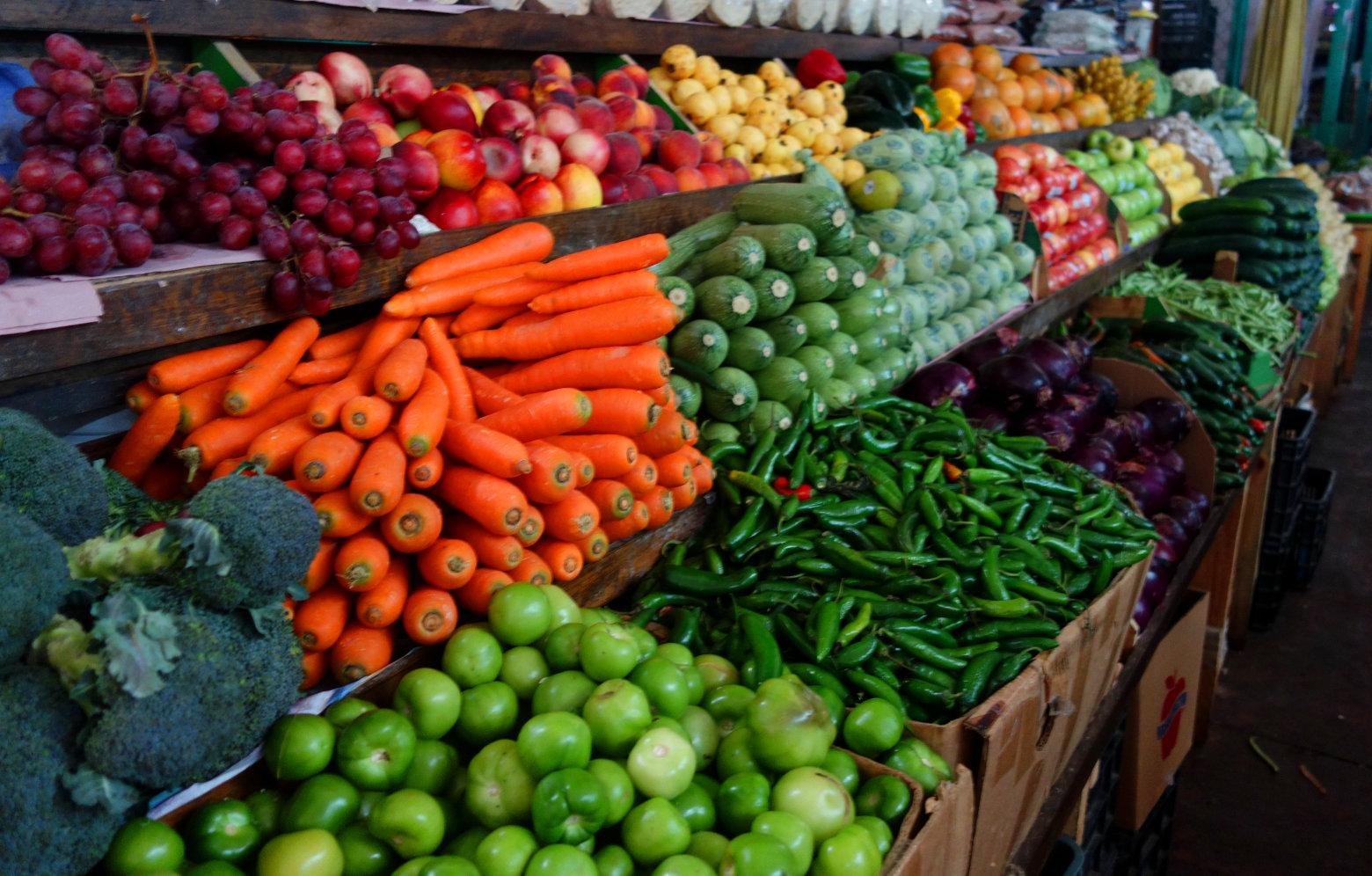 Mexiko Markt Gemüse Obst