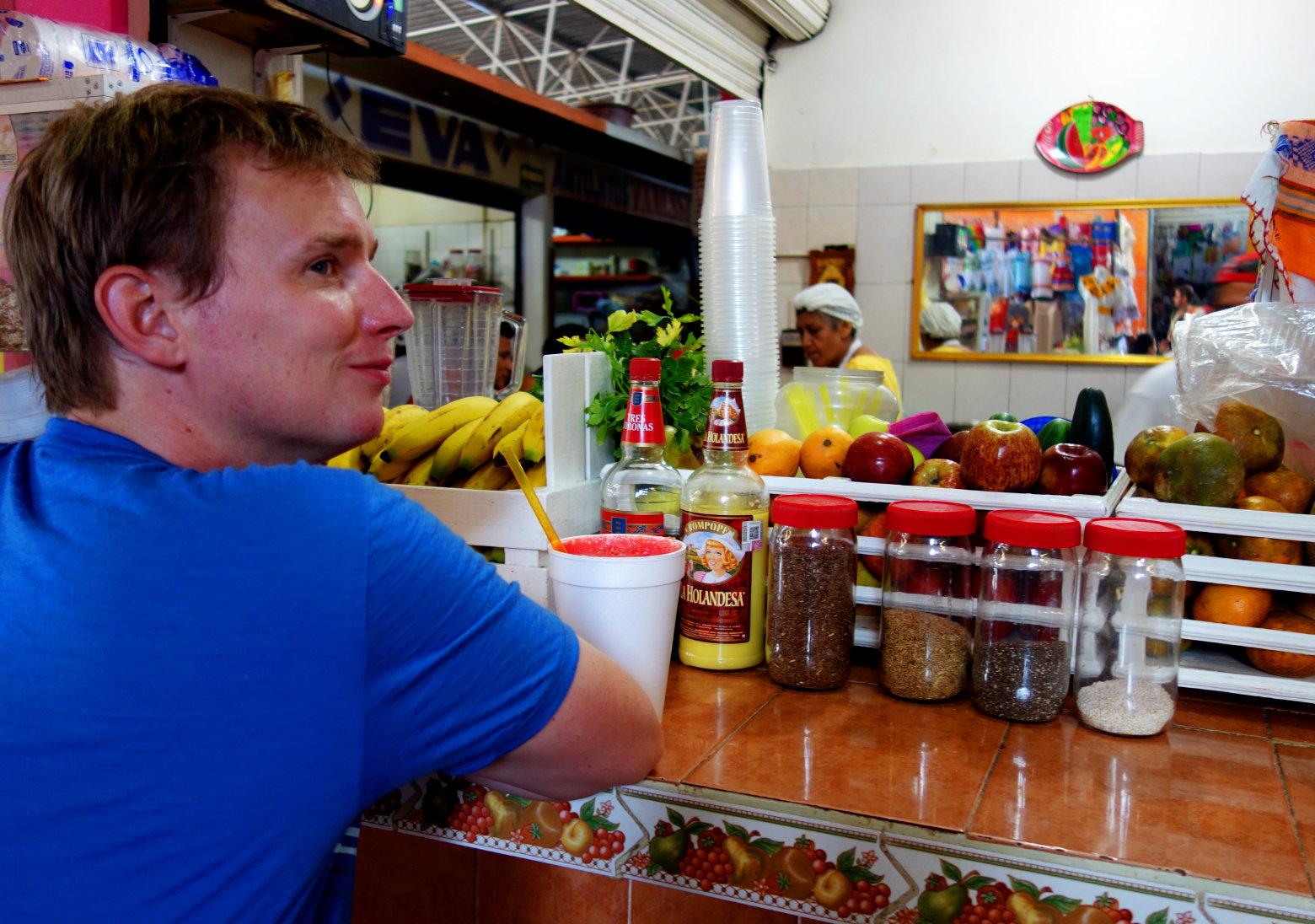 Mexiko Markt Säfte
