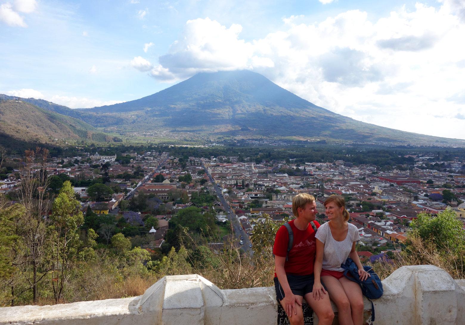 Guatemala Antigua Cerro de la Cruz Ausblick