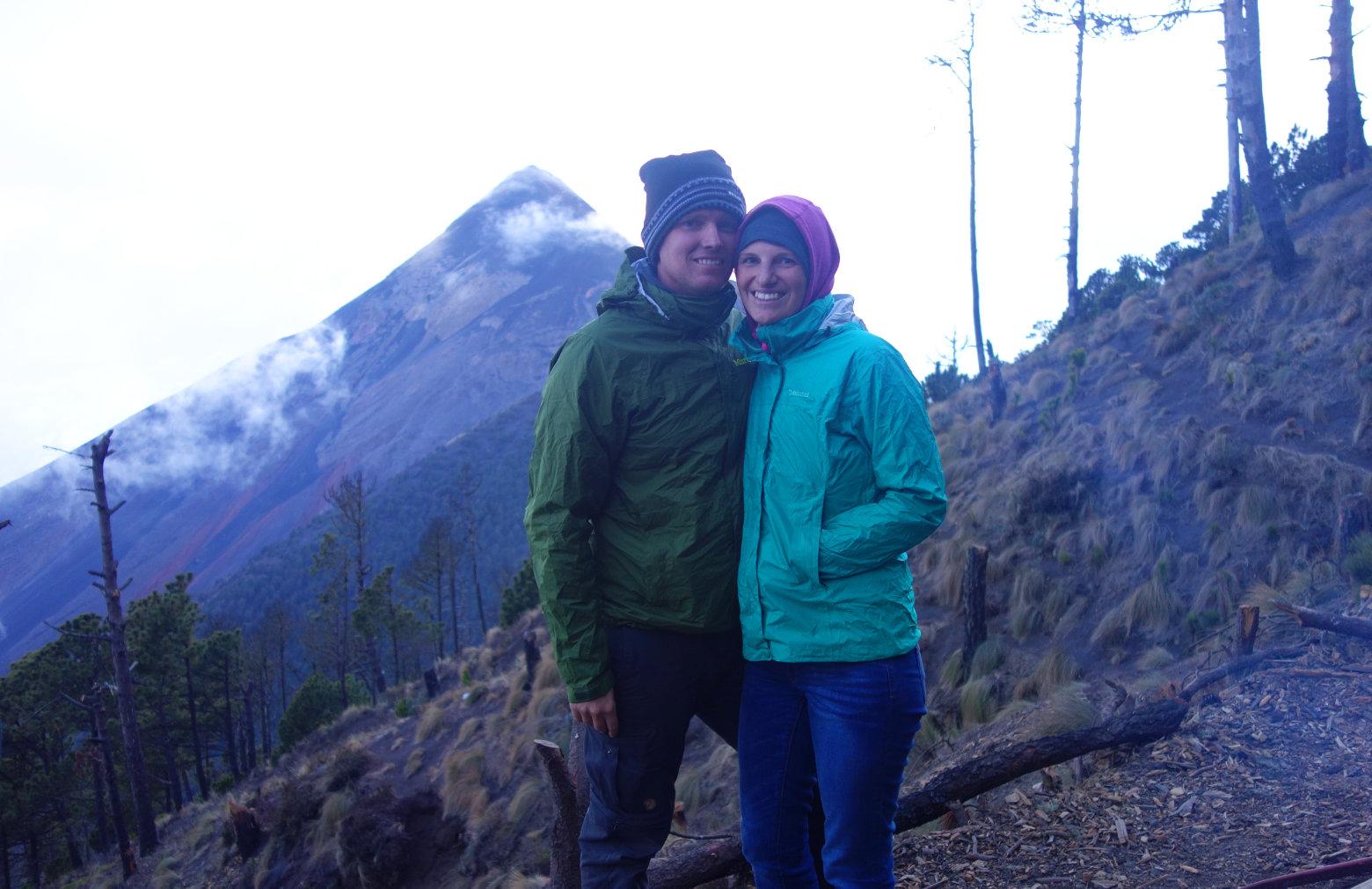 Antigua Vulkan Wanderung Paar