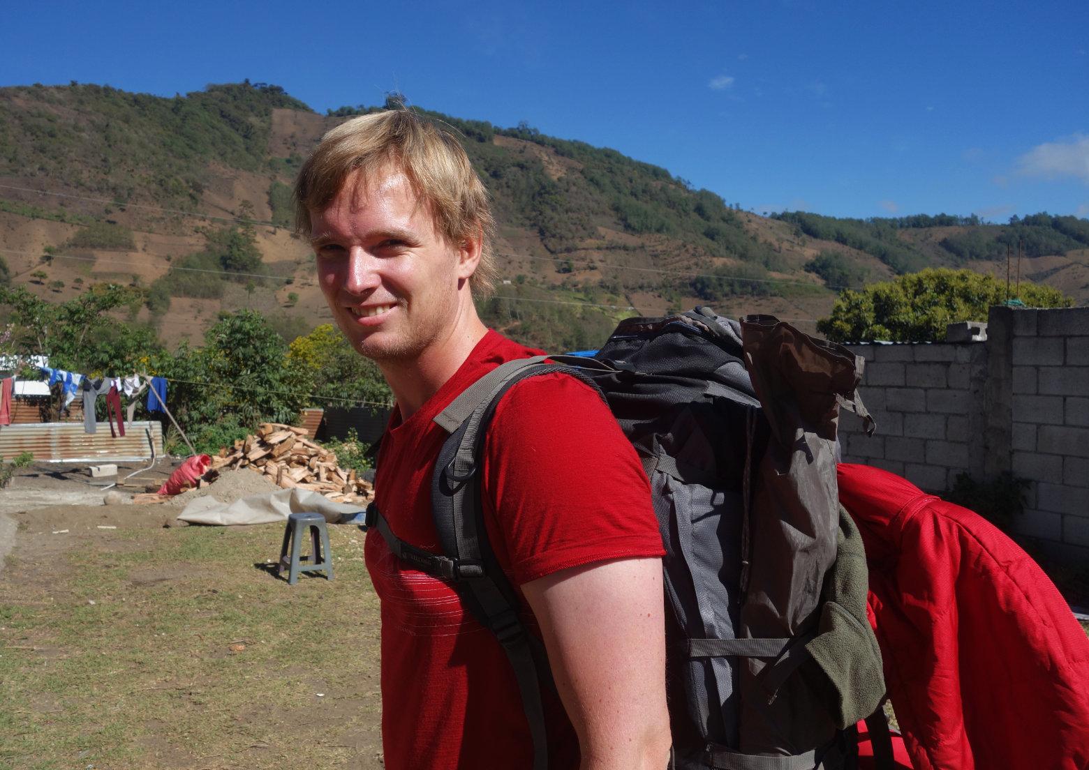 Guatemala Antigua Wanderung Rucksack