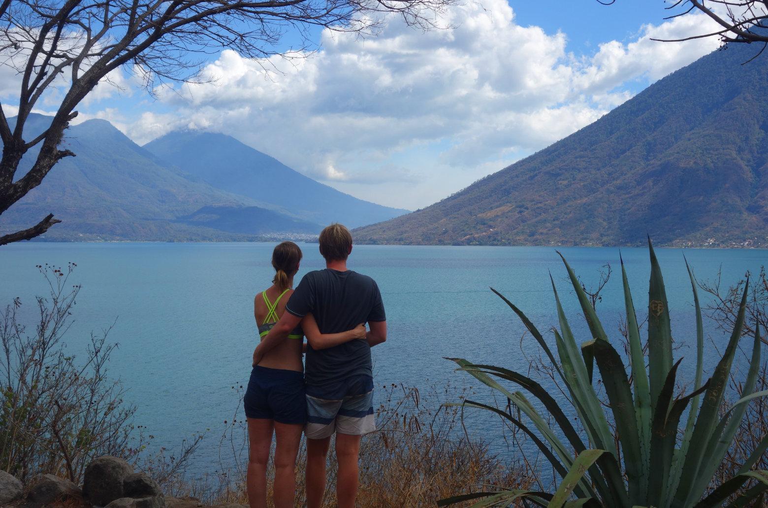 Guatemala Lago Atitlan San Marcos Paar Vulkane