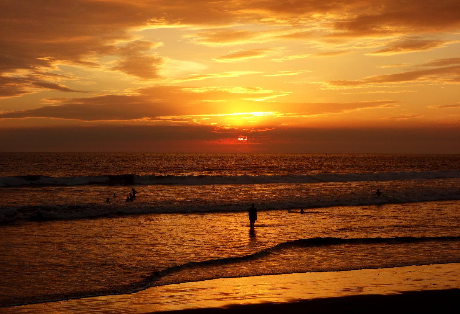 Nicaragua Jiquilillo Sonnenuntergang