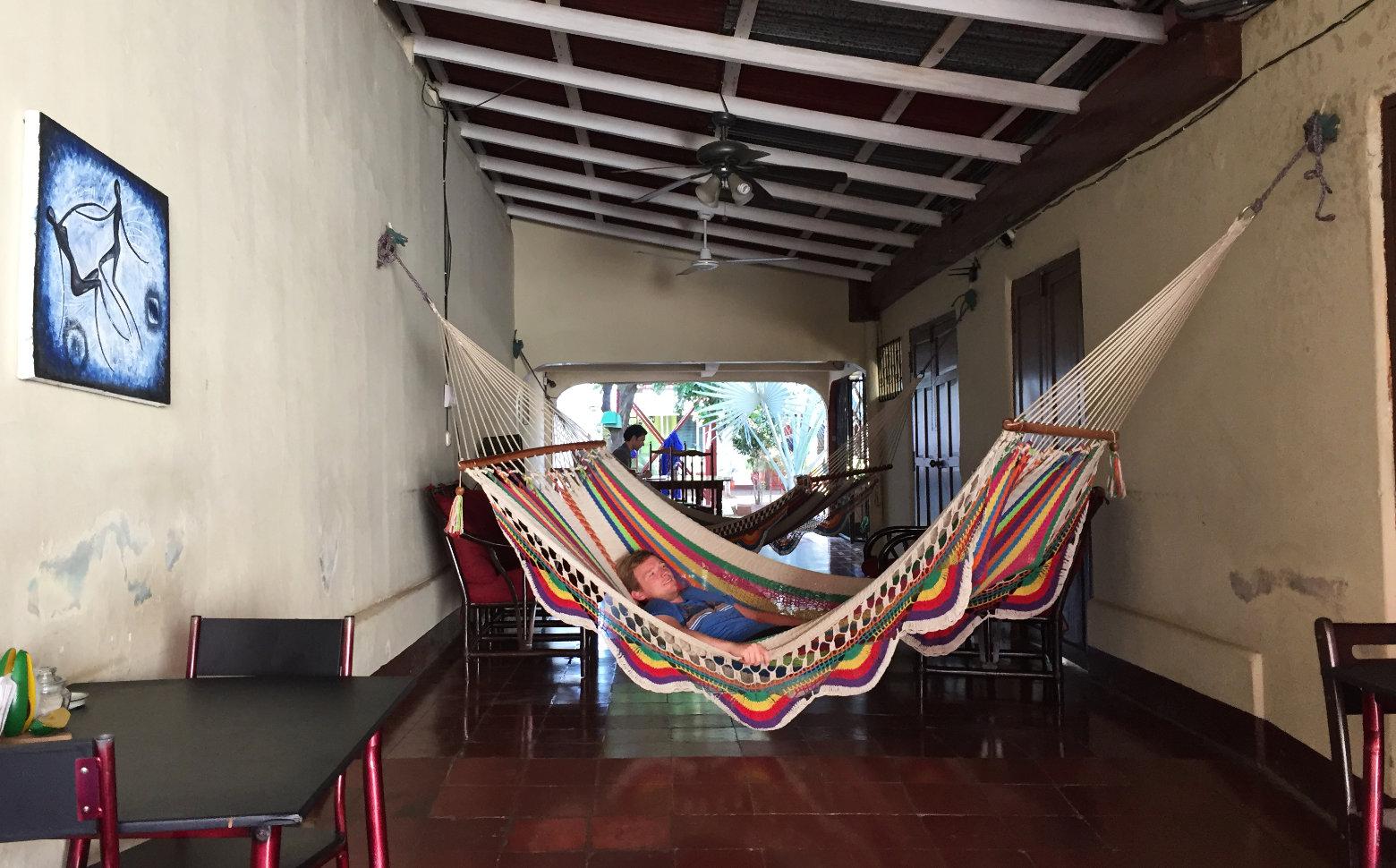 Nicaragua León Hostel Hängematte