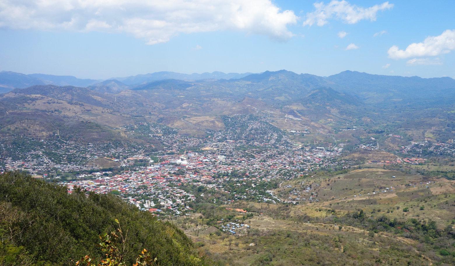 Nicaragua Norden Matagalpa Blick vom Kreuz