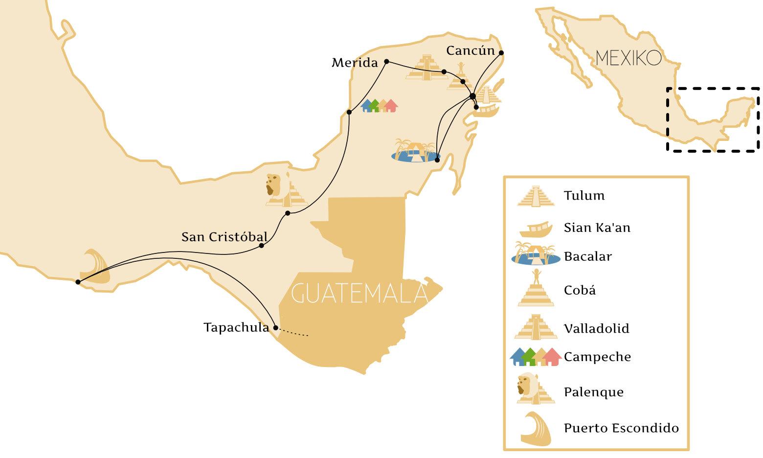 Mexiko Reisetipps Route