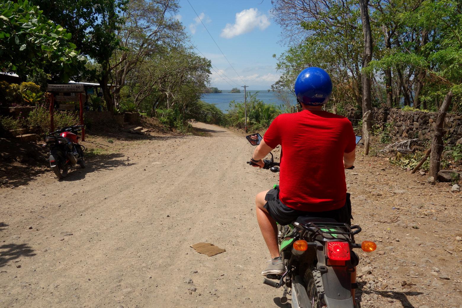 Nicaragua Isla de Ometepe Motorrad