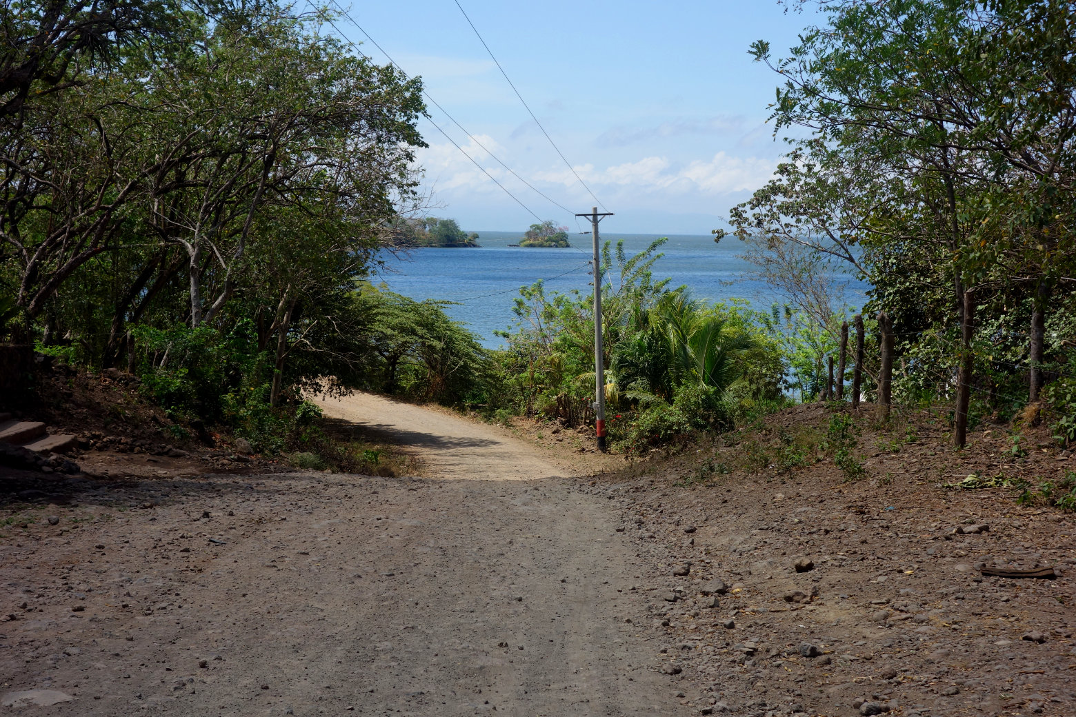 Nicaragua Isla de Ometepe Schotterpiste