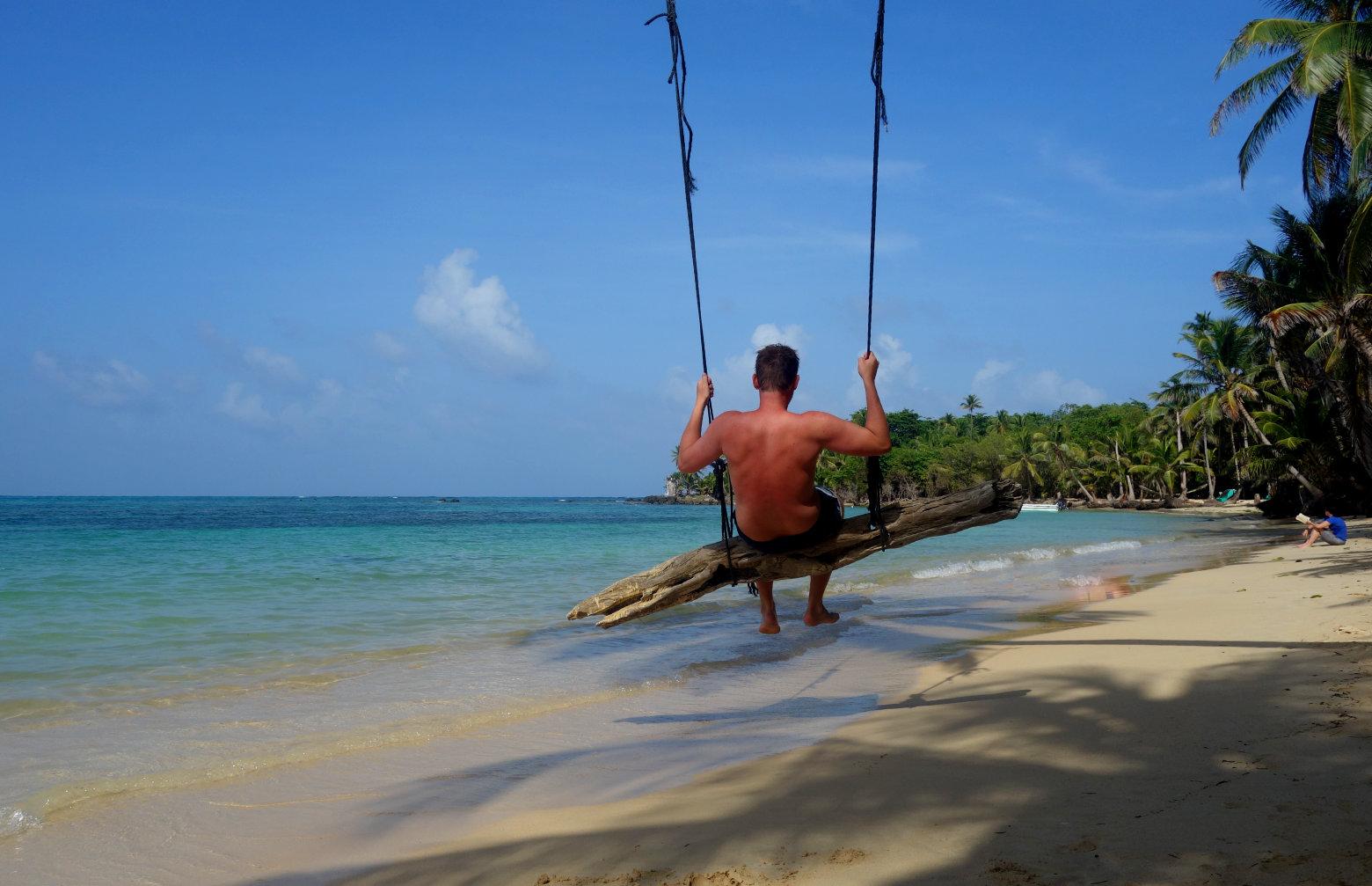 Nicaragua Little Corn Island Strand Schaukel