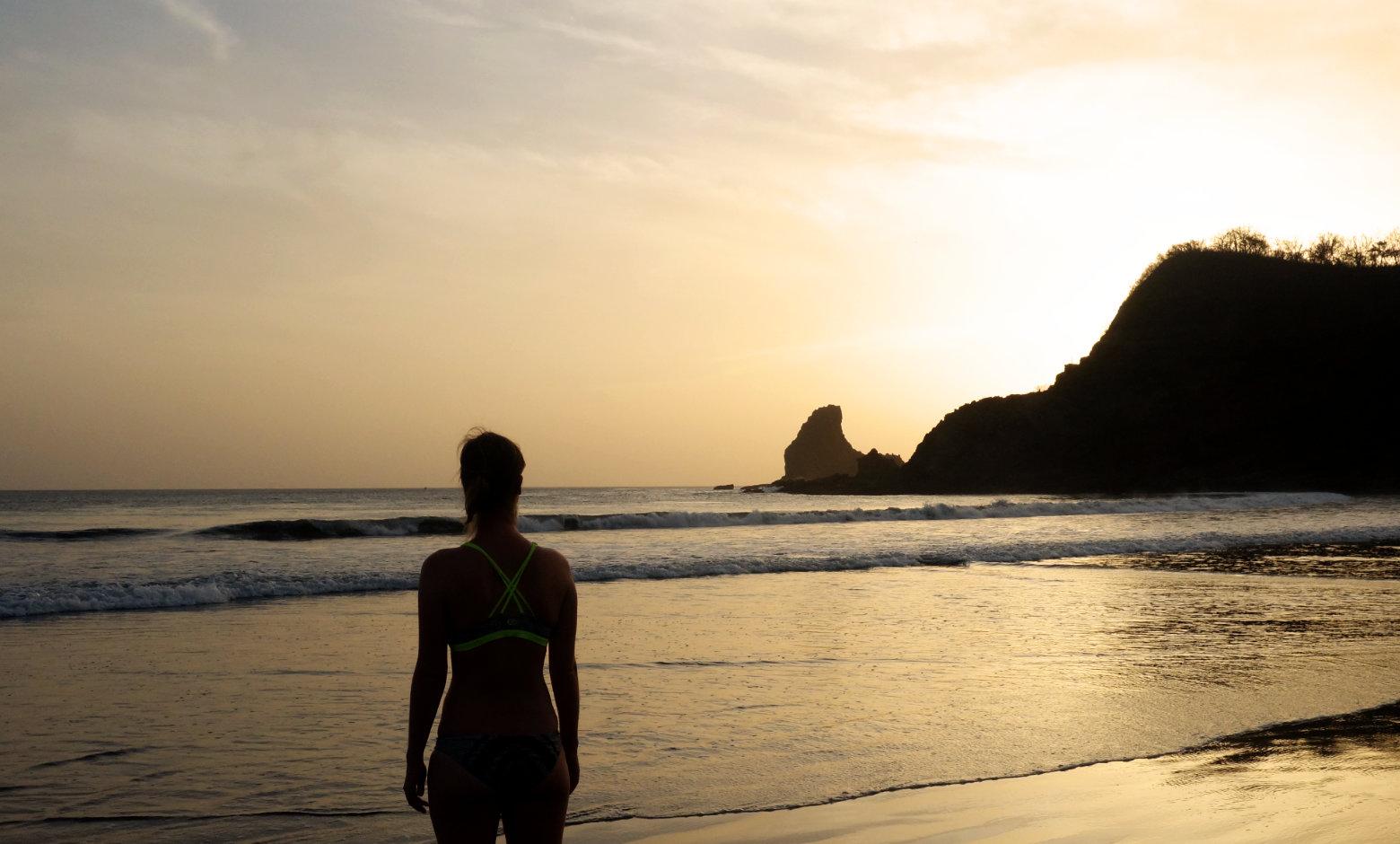 Nicaragua Playa Maderas Franzi am Meer