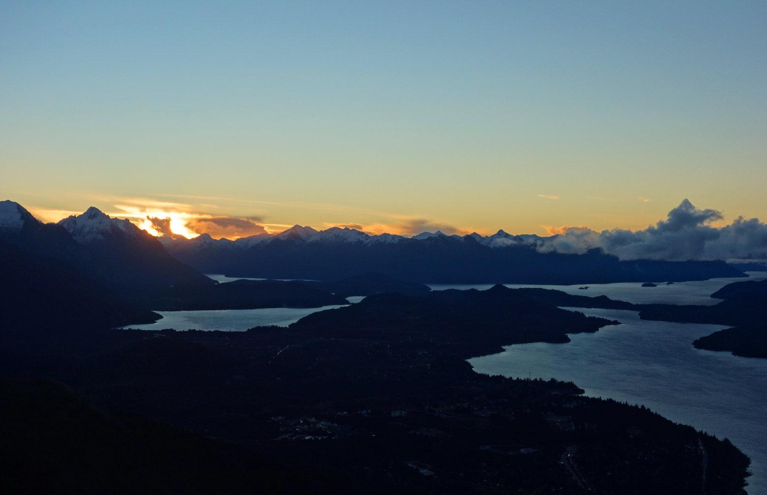 Argentinien Bariloche Sonnenuntergang vom Cerro Otto