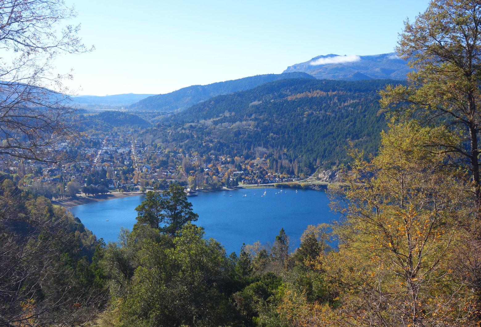 Argentinien Seengebiet San Martin vom Berg