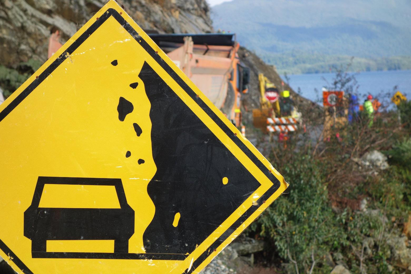 Chile Carretera Austral Baustelle