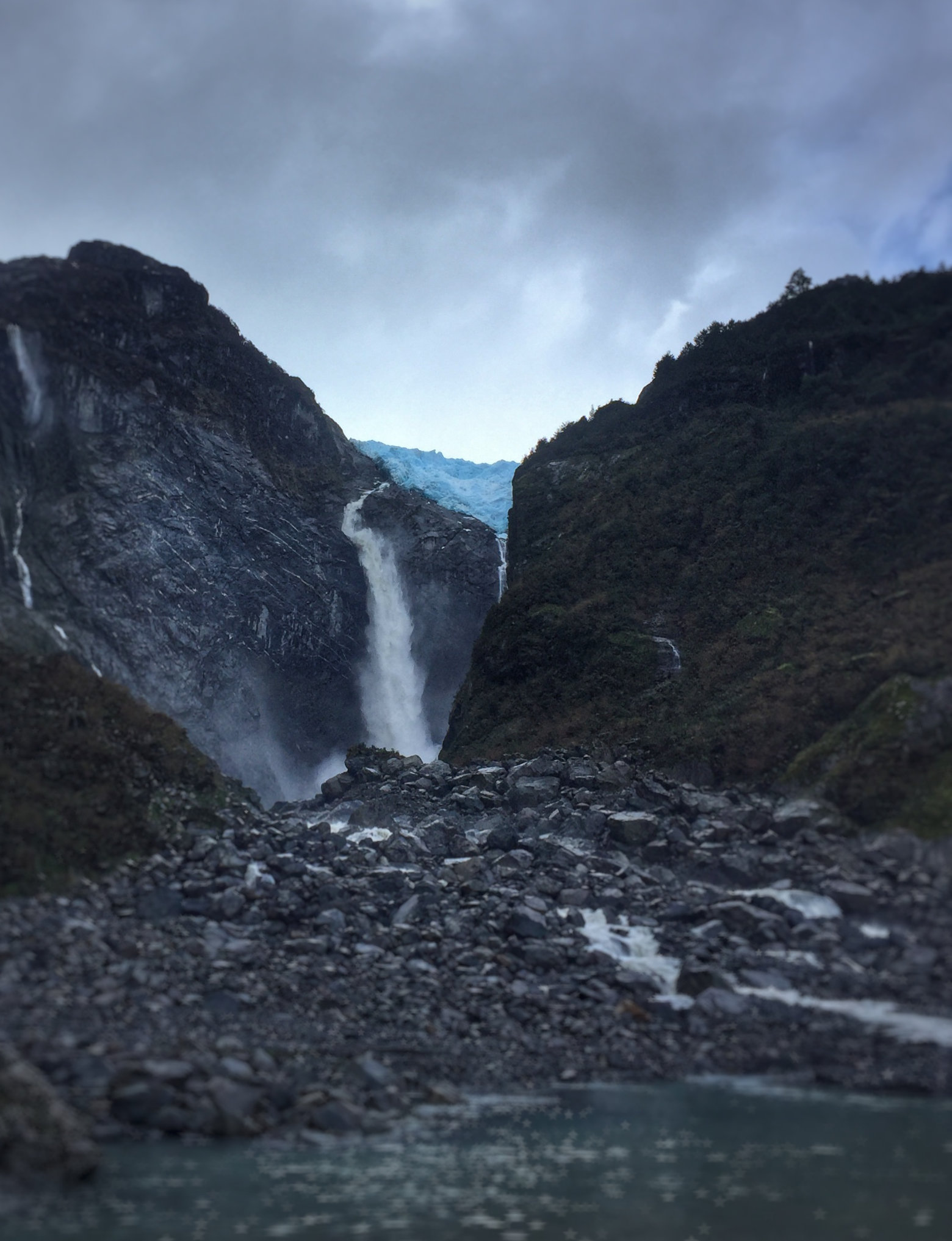 Chile Carretera Austral Hanging Glacier von Nahem
