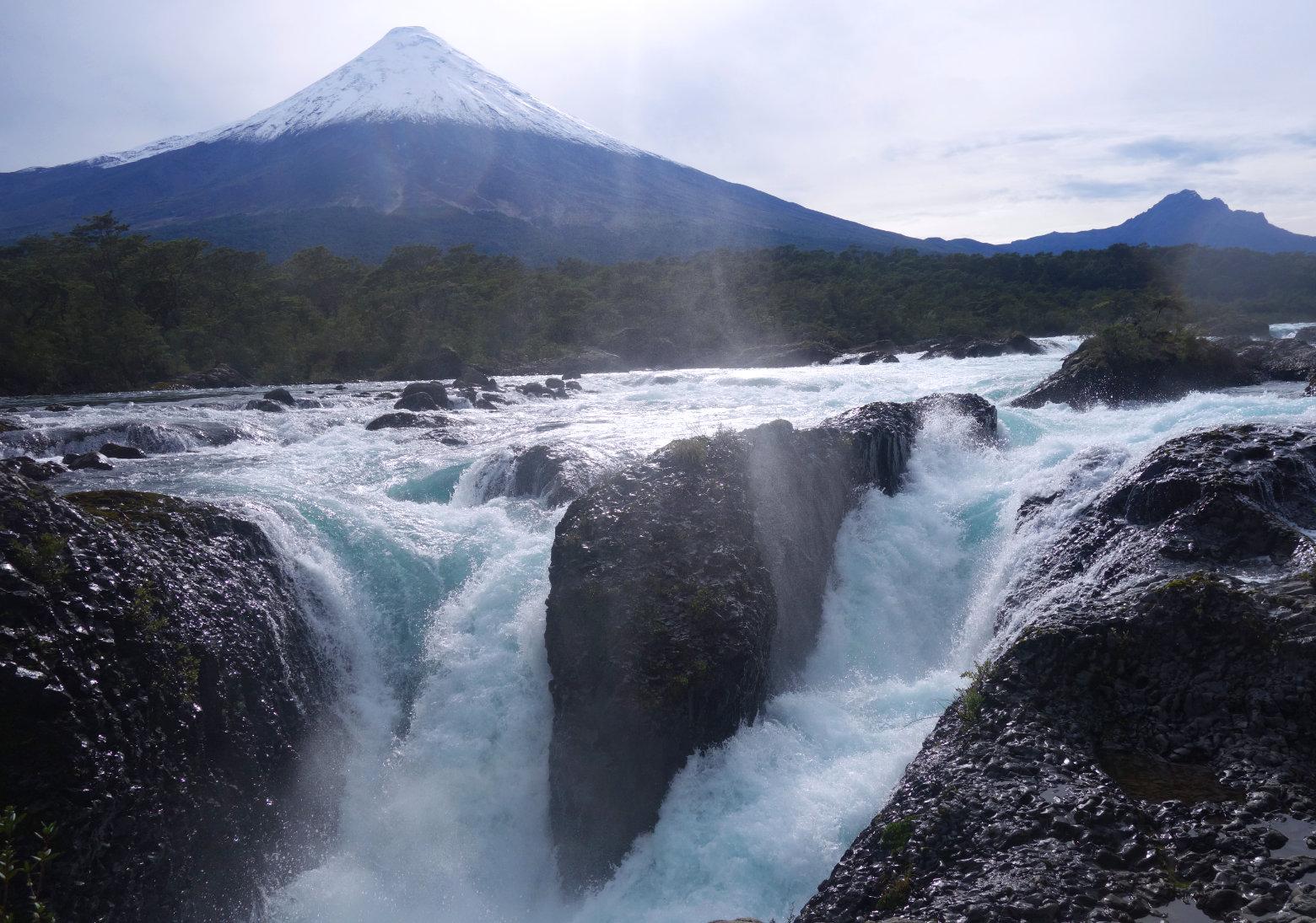 Chile Wasserfälle mit Osorno