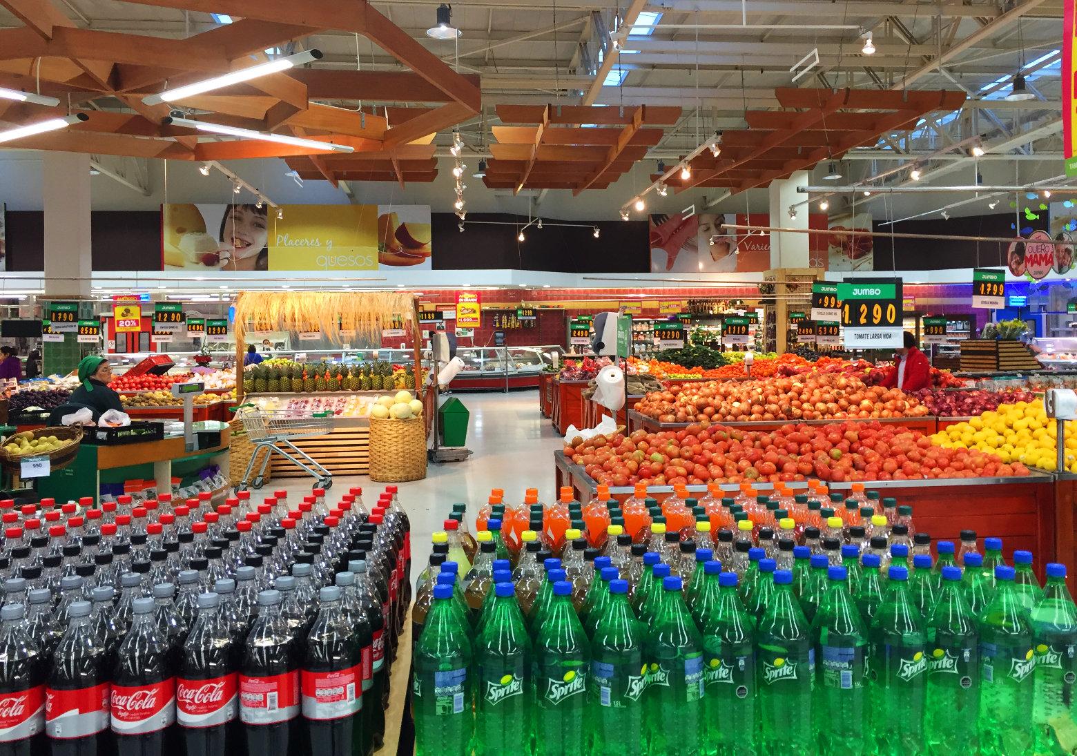 Chile Santiago Supermarkt