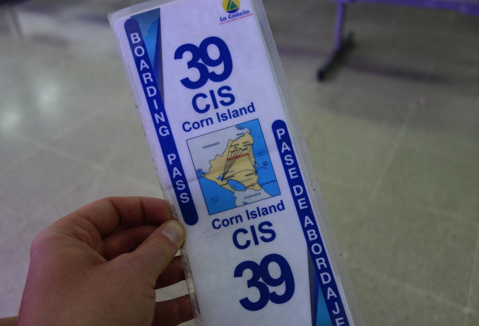 Nicaragua Little Corn Island Anreise Ticket