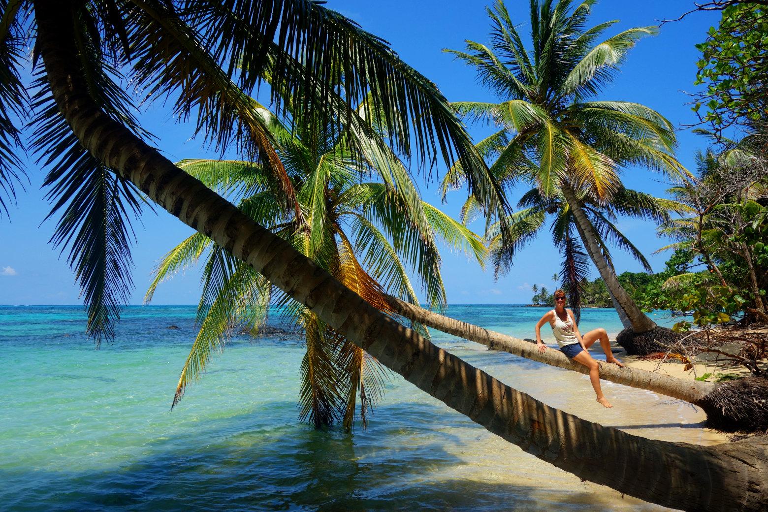 Nicaragua Little Corn Island Palmen und Meer