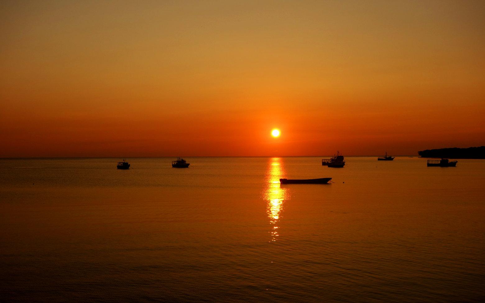 Nicaragua Little Corn Island Sonnenuntergang