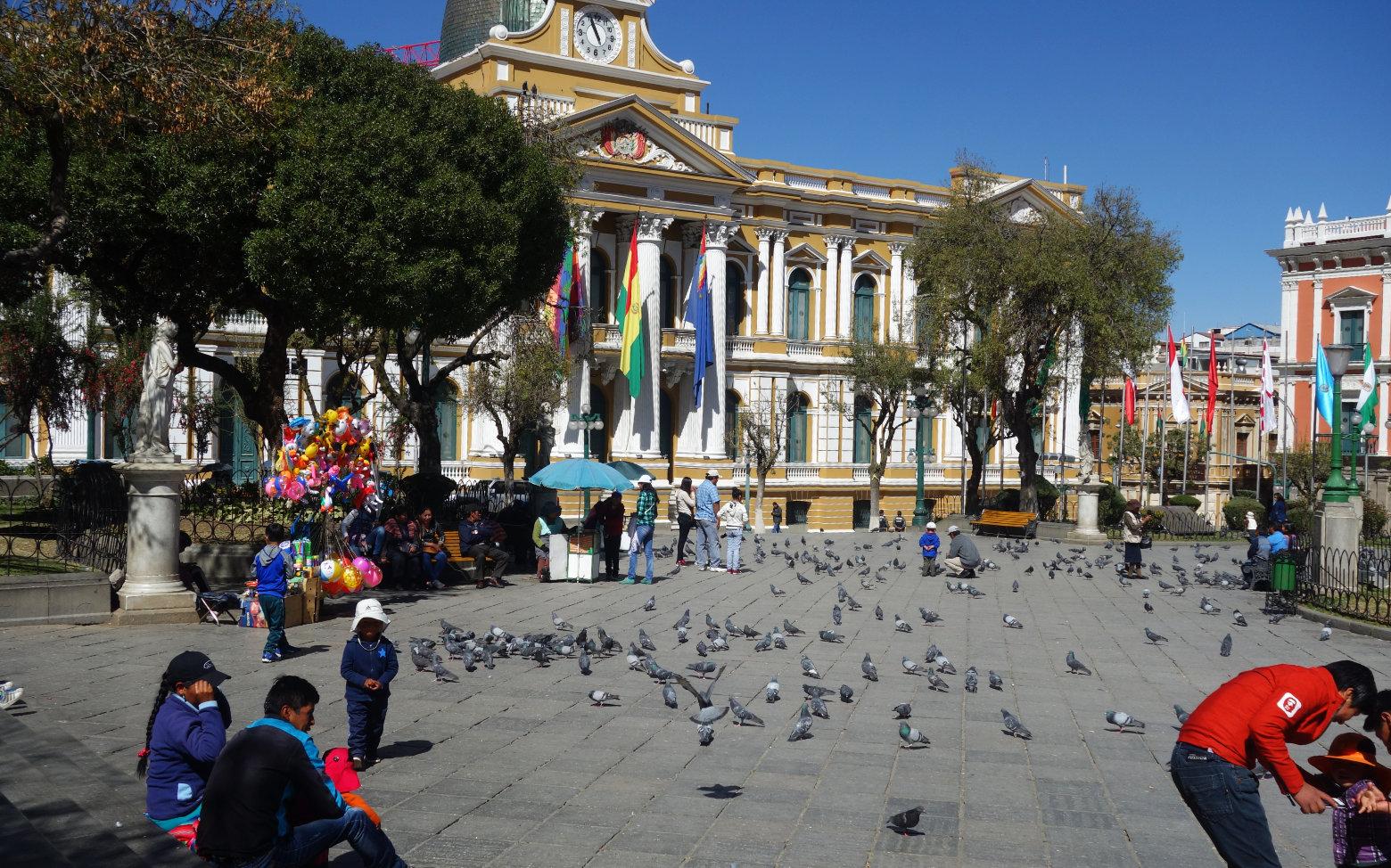 Bolivien La Paz Plaza Domingo Murillo